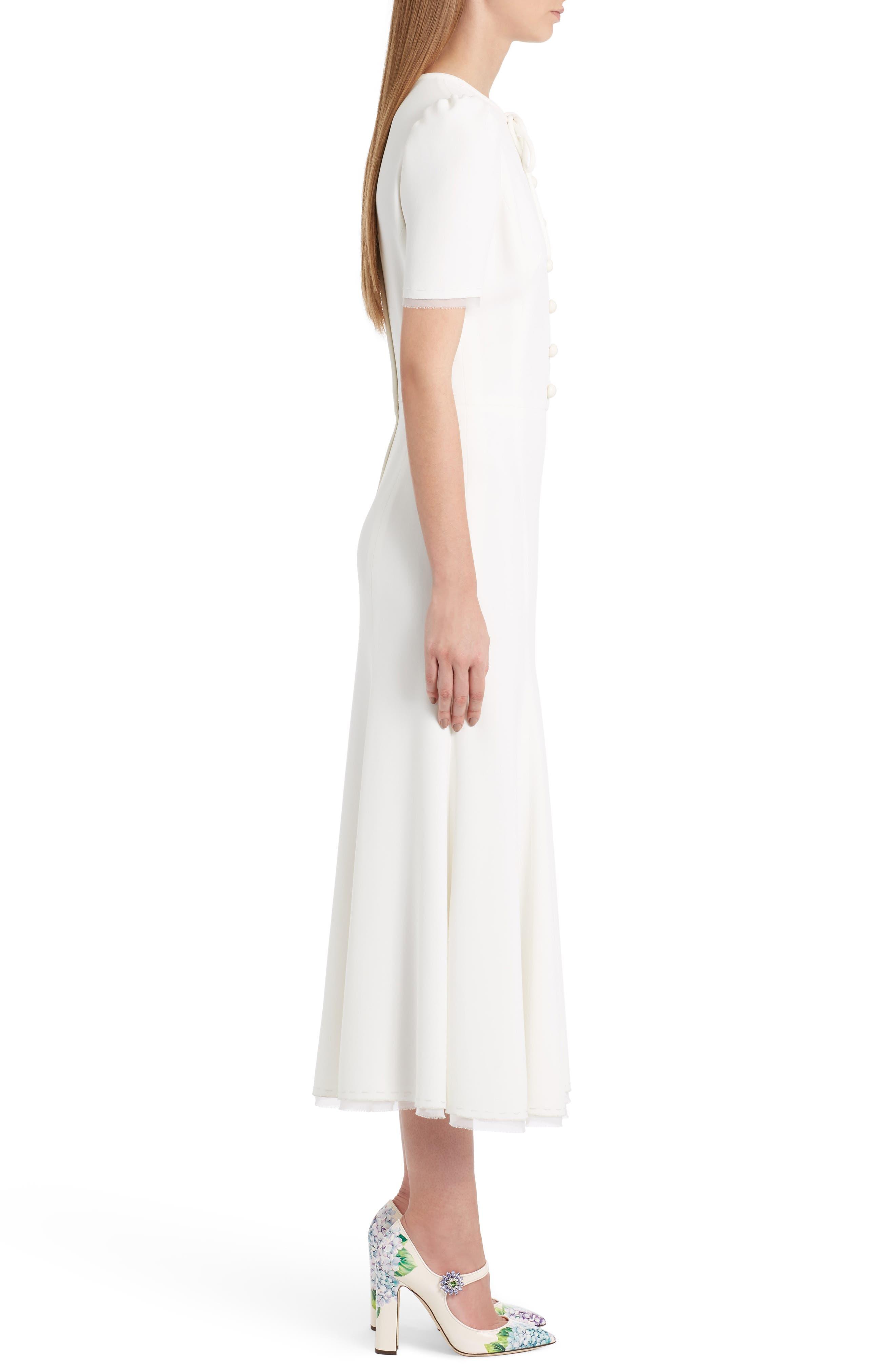 Button Midi Dress,                             Alternate thumbnail 3, color,                             115