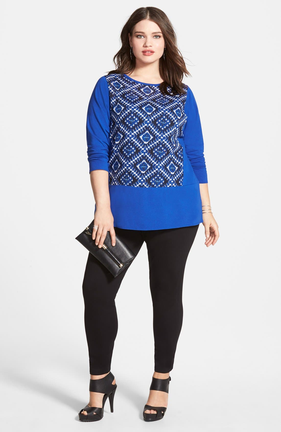 Leggings,                             Alternate thumbnail 3, color,                             RICH BLACK