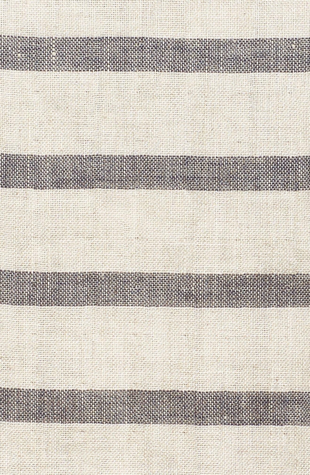 Stripe Linen & Organic Cotton Top,                             Alternate thumbnail 6, color,                             257