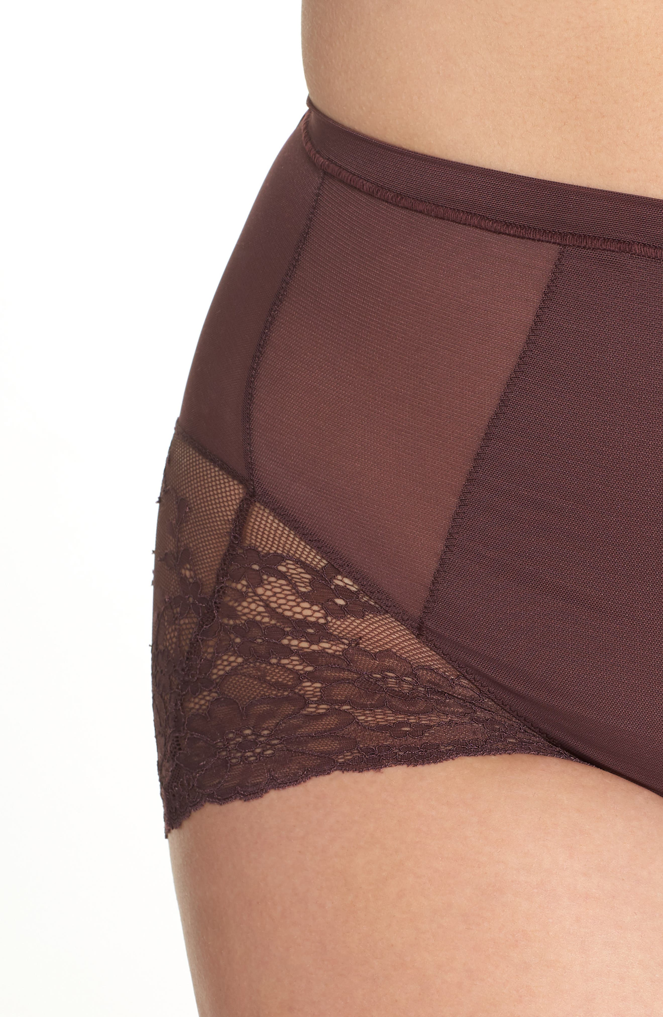 Spotlight On Lace Briefs,                             Alternate thumbnail 4, color,                             GARNET