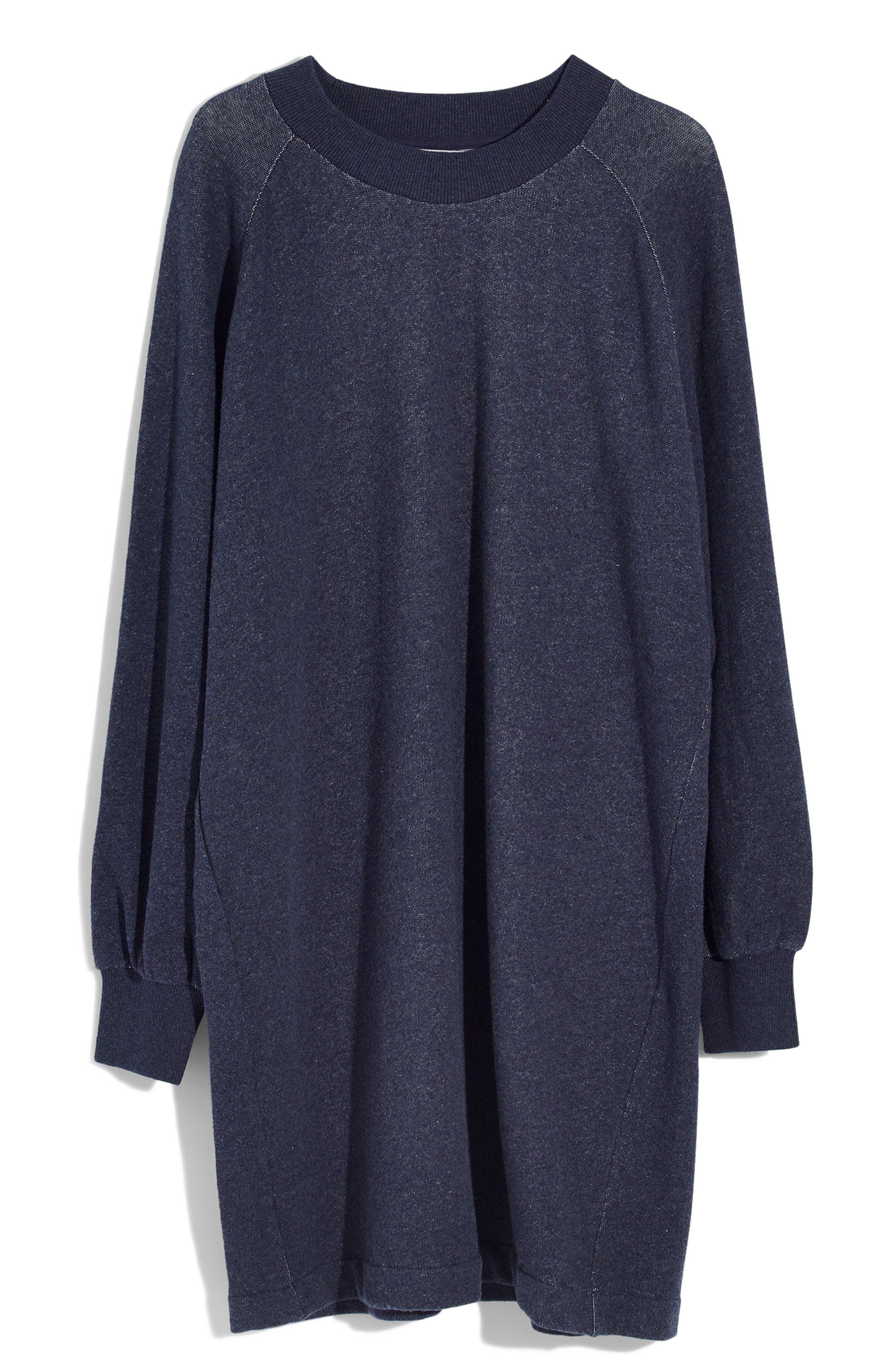 Bubble Sleeve Sweatshirt Dress,                             Alternate thumbnail 5, color,                             400