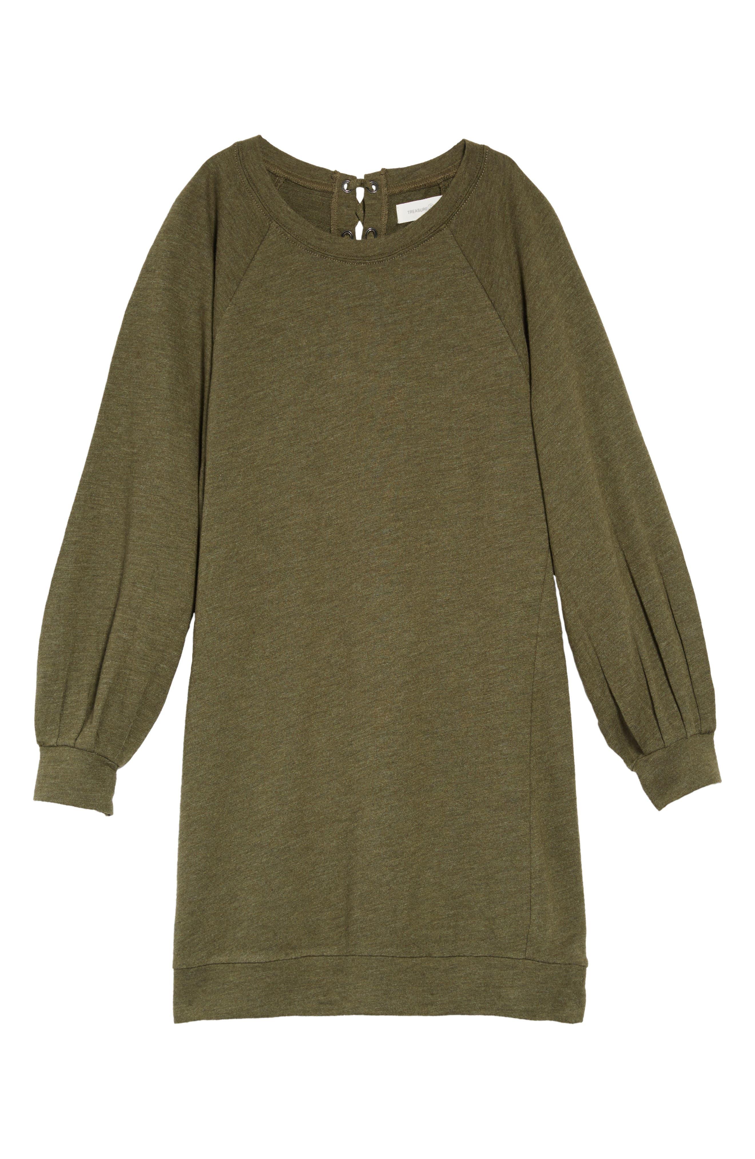 Bubble Sleeve Shift Dress, Main, color, 311