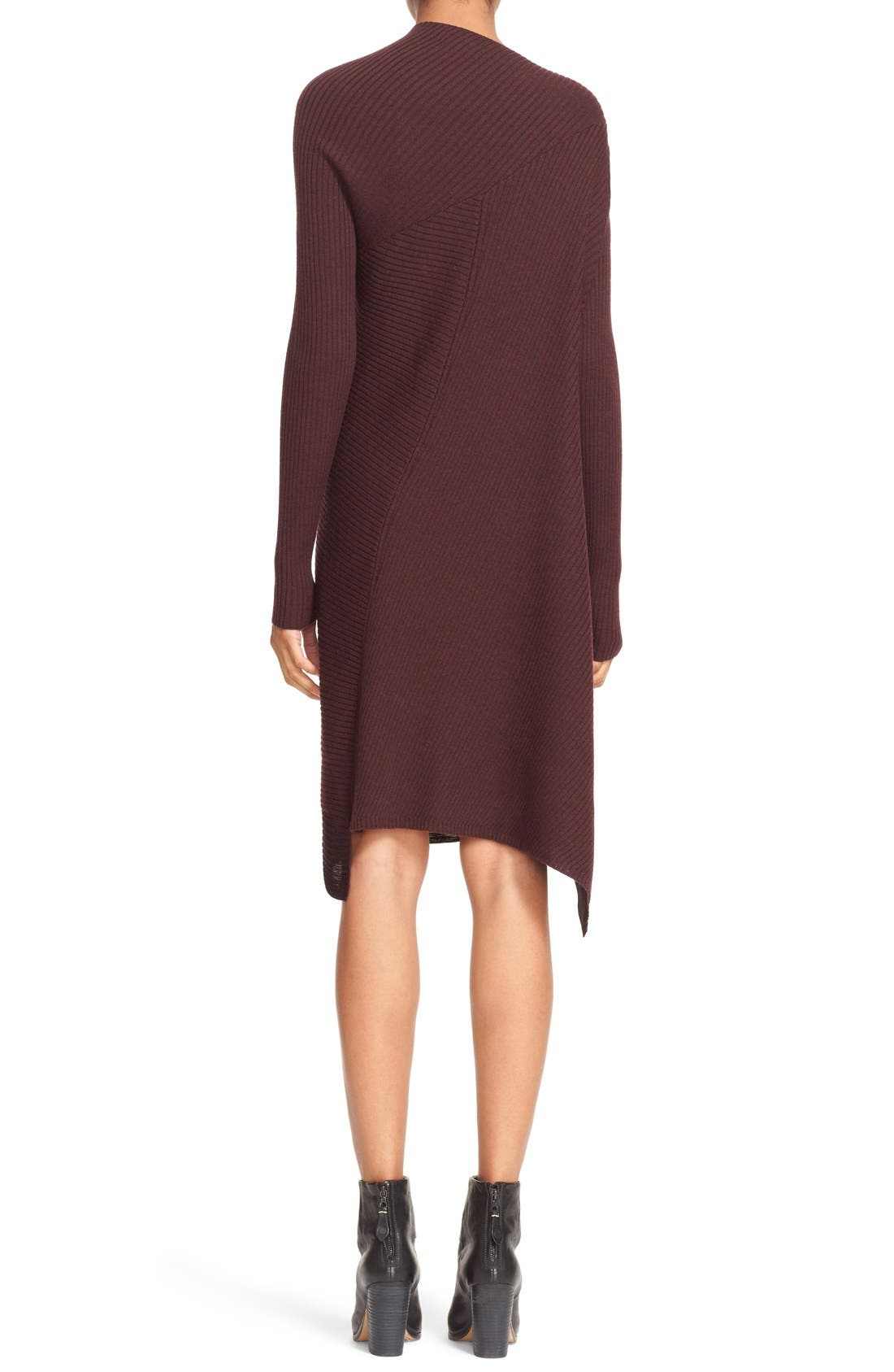 Knit Merino Wool Swing Dress,                             Alternate thumbnail 3, color,                             930