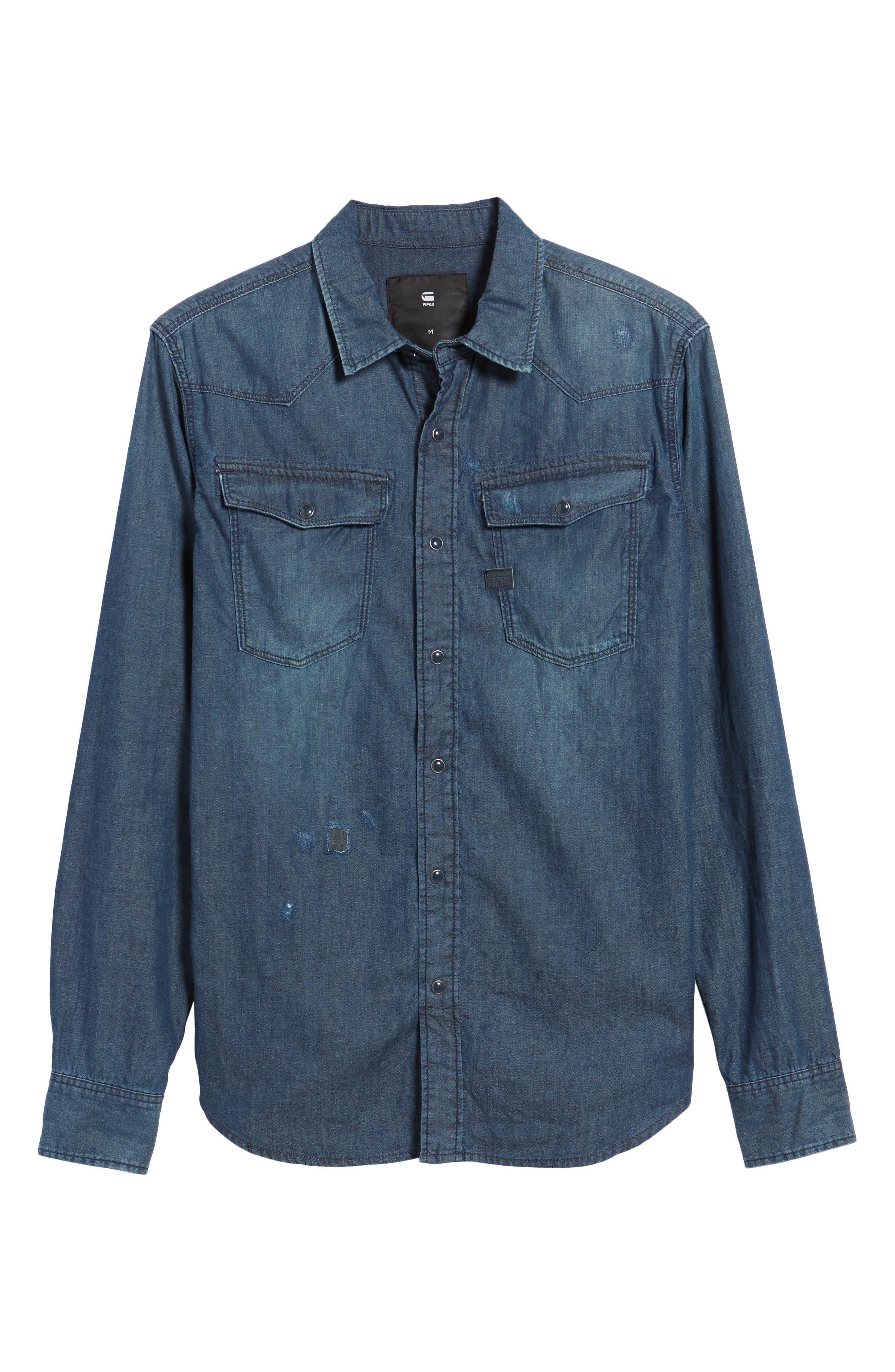 Kinney Denim Shirt,                             Alternate thumbnail 6, color,