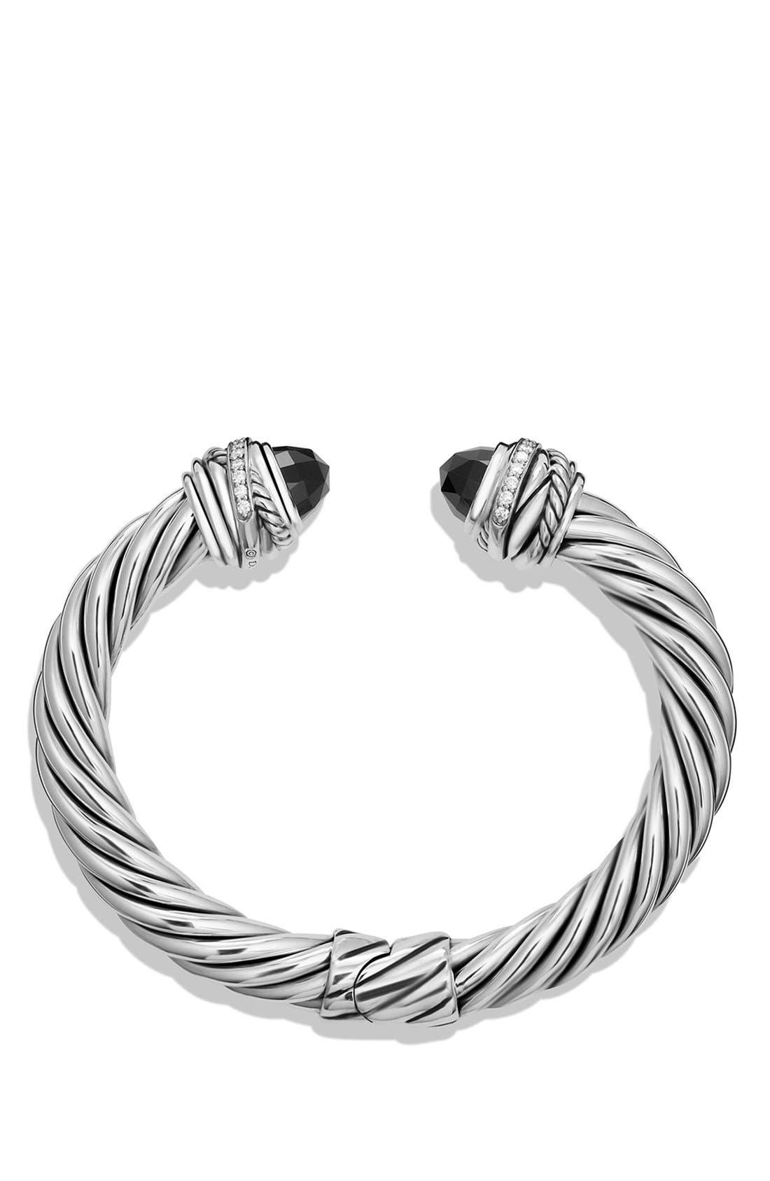'Cable Classics' Bracelet with Semiprecious Stones & Diamonds,                             Alternate thumbnail 2, color,                             001