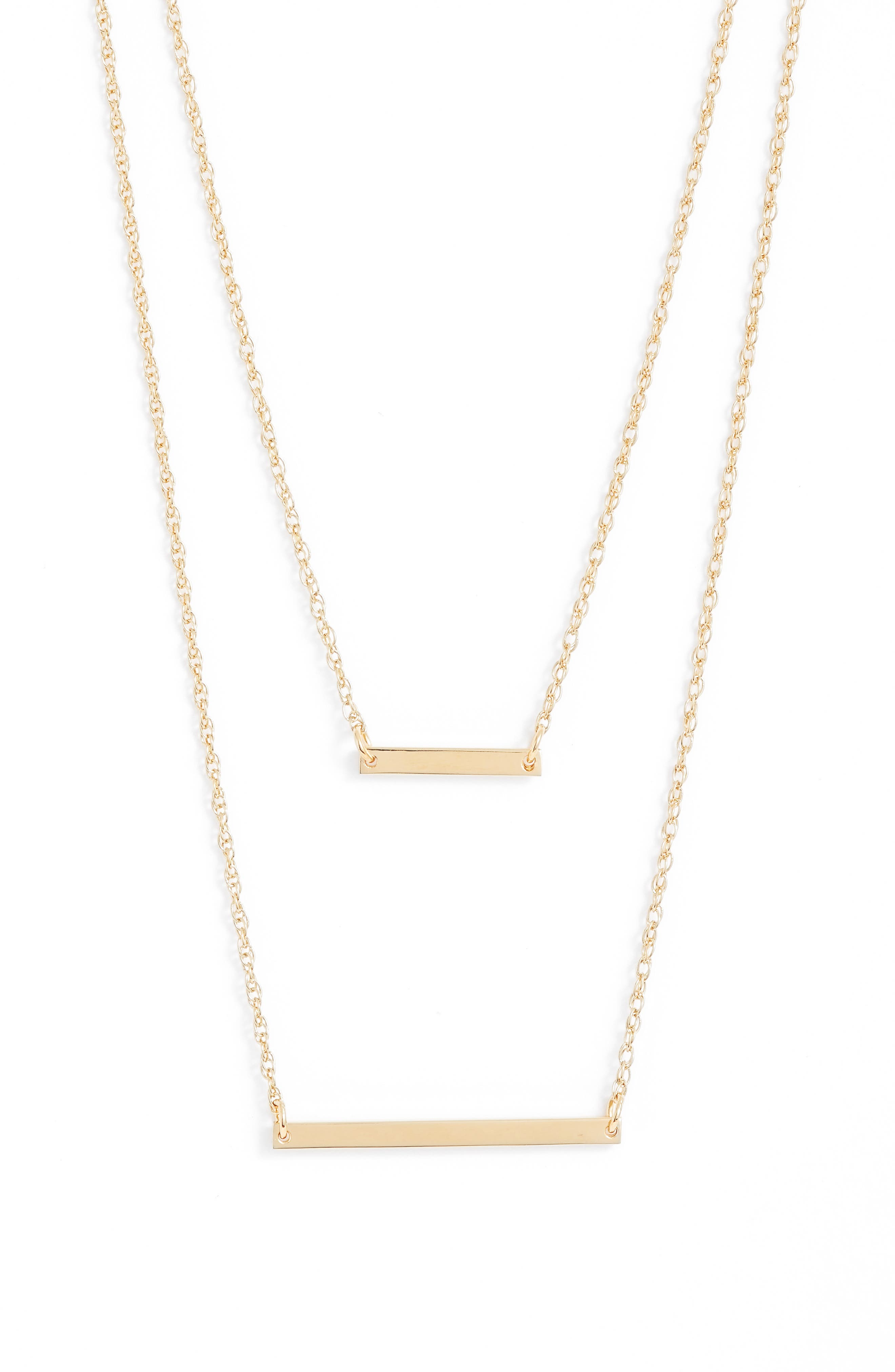 Cynthia Layered Pendant Necklace,                         Main,                         color, GOLD VERMEIL
