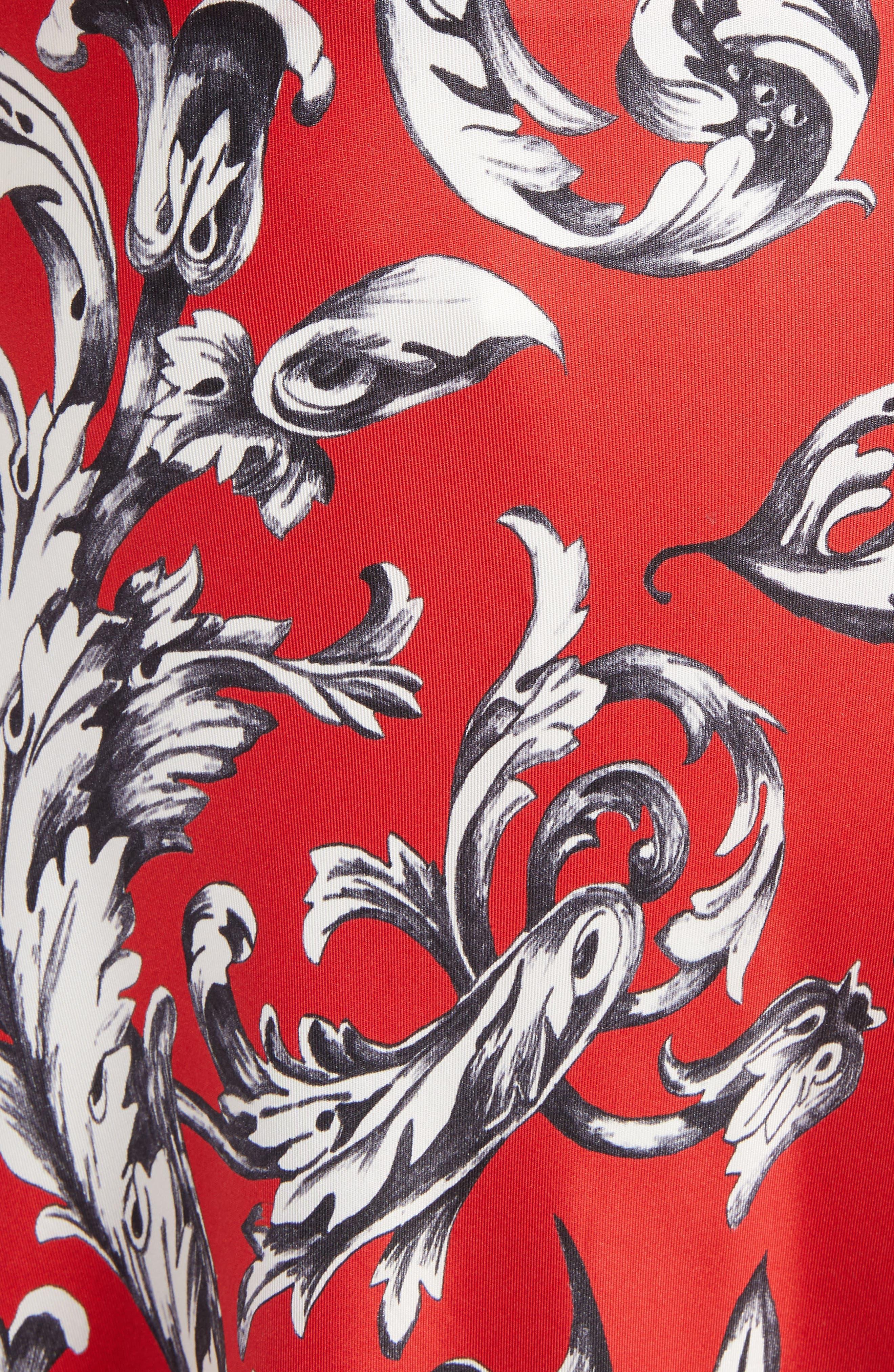 J.W.ANDERSON Filigree Print Asymmetrical Maxi Skirt,                             Alternate thumbnail 5, color,