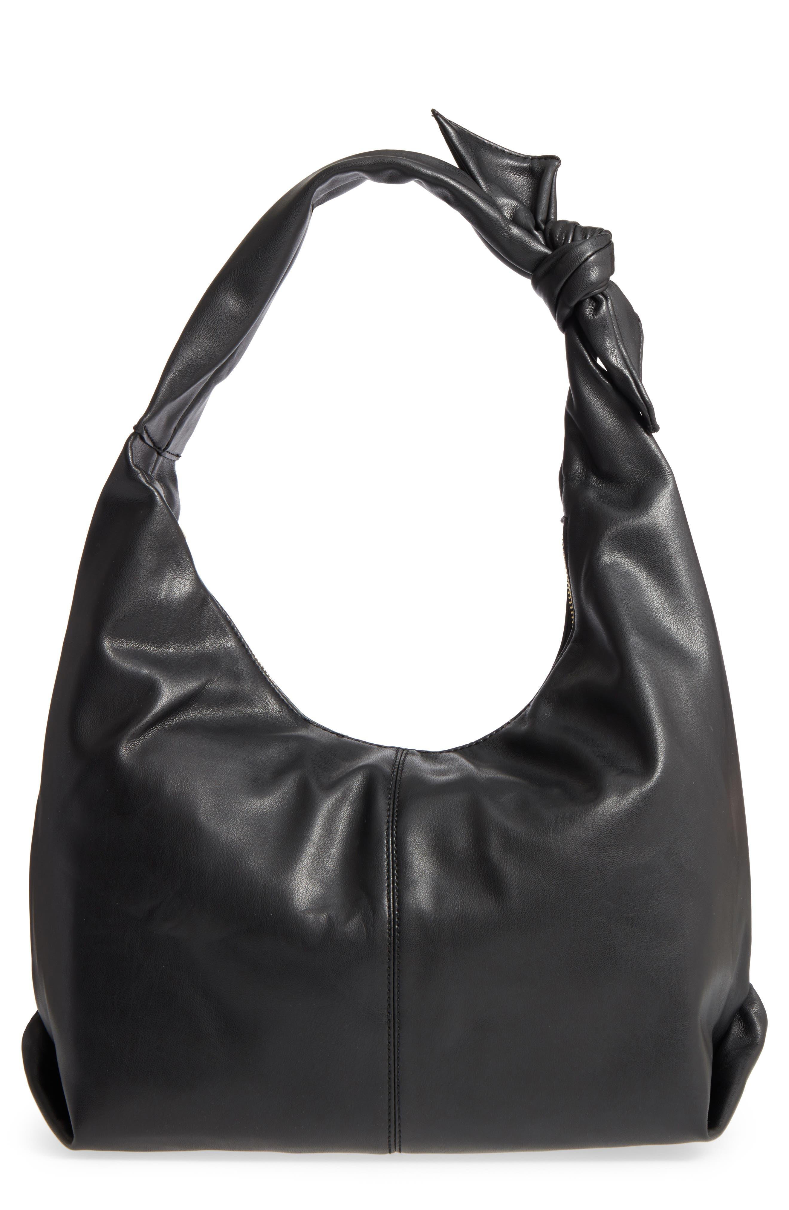 Niki Faux Leather Hobo,                         Main,                         color, 001