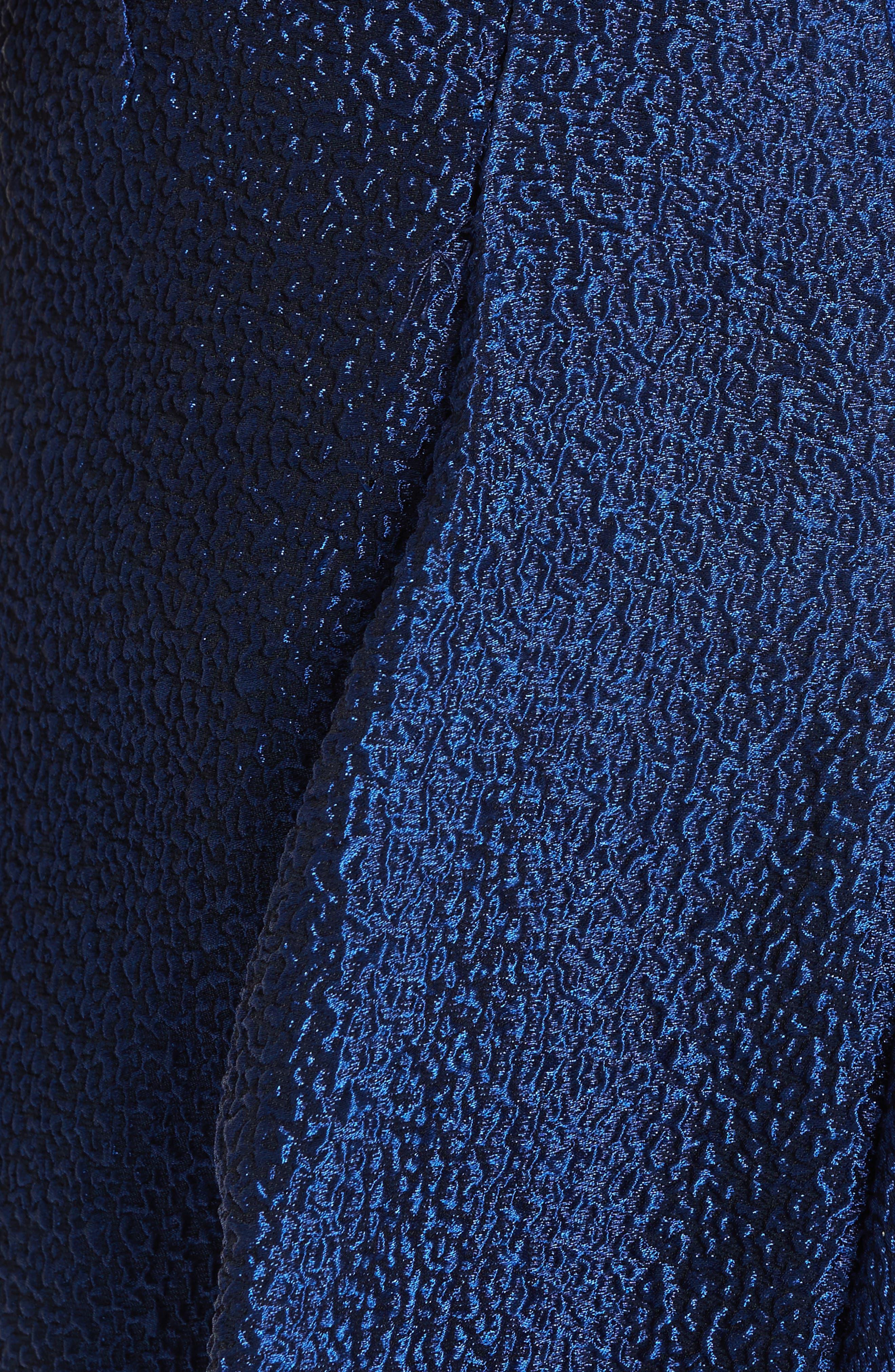 Side Drape Strapless Gown,                             Alternate thumbnail 6, color,