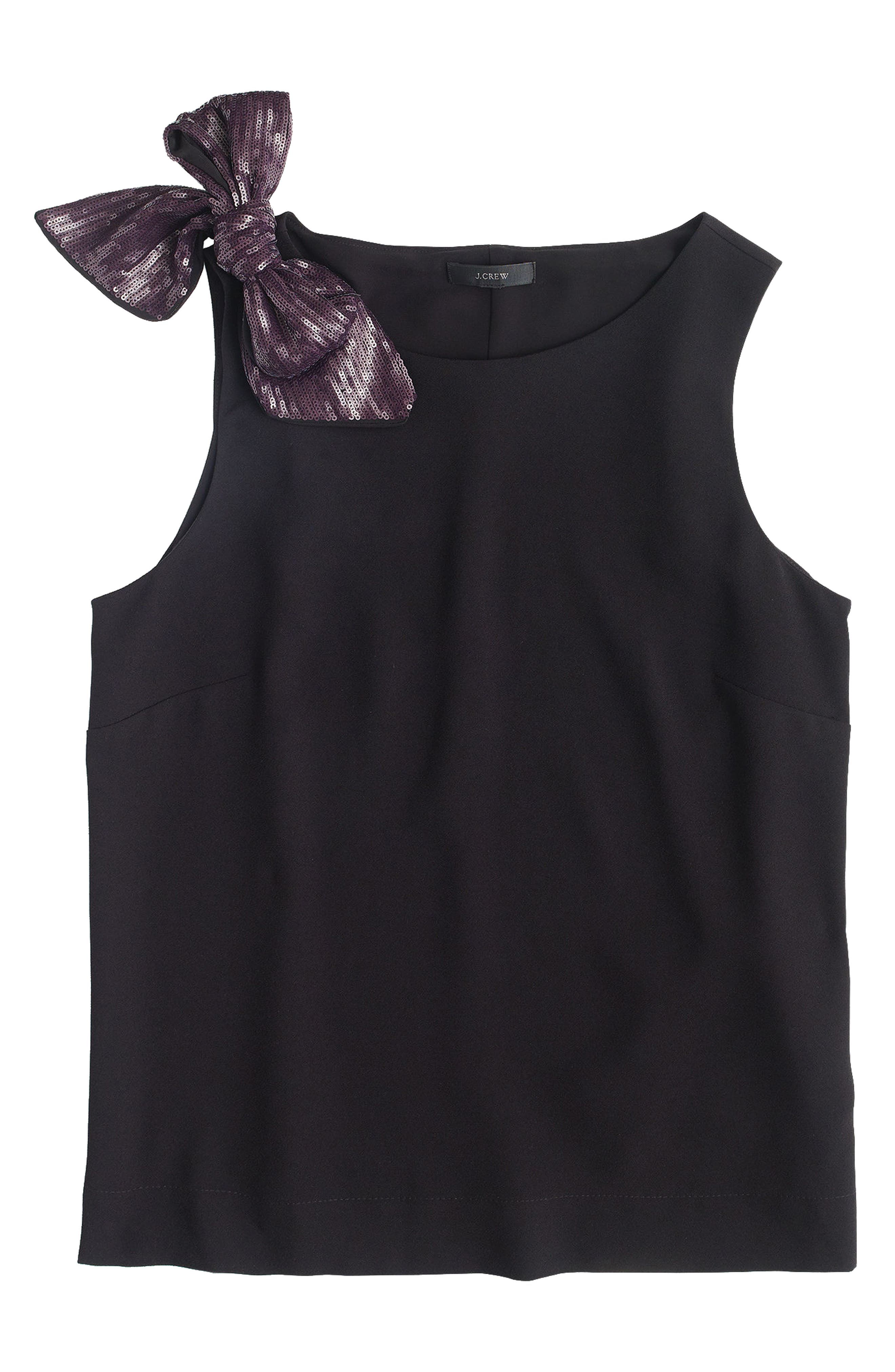 Drapey Tank with Shoulder Bow,                             Alternate thumbnail 2, color,                             001