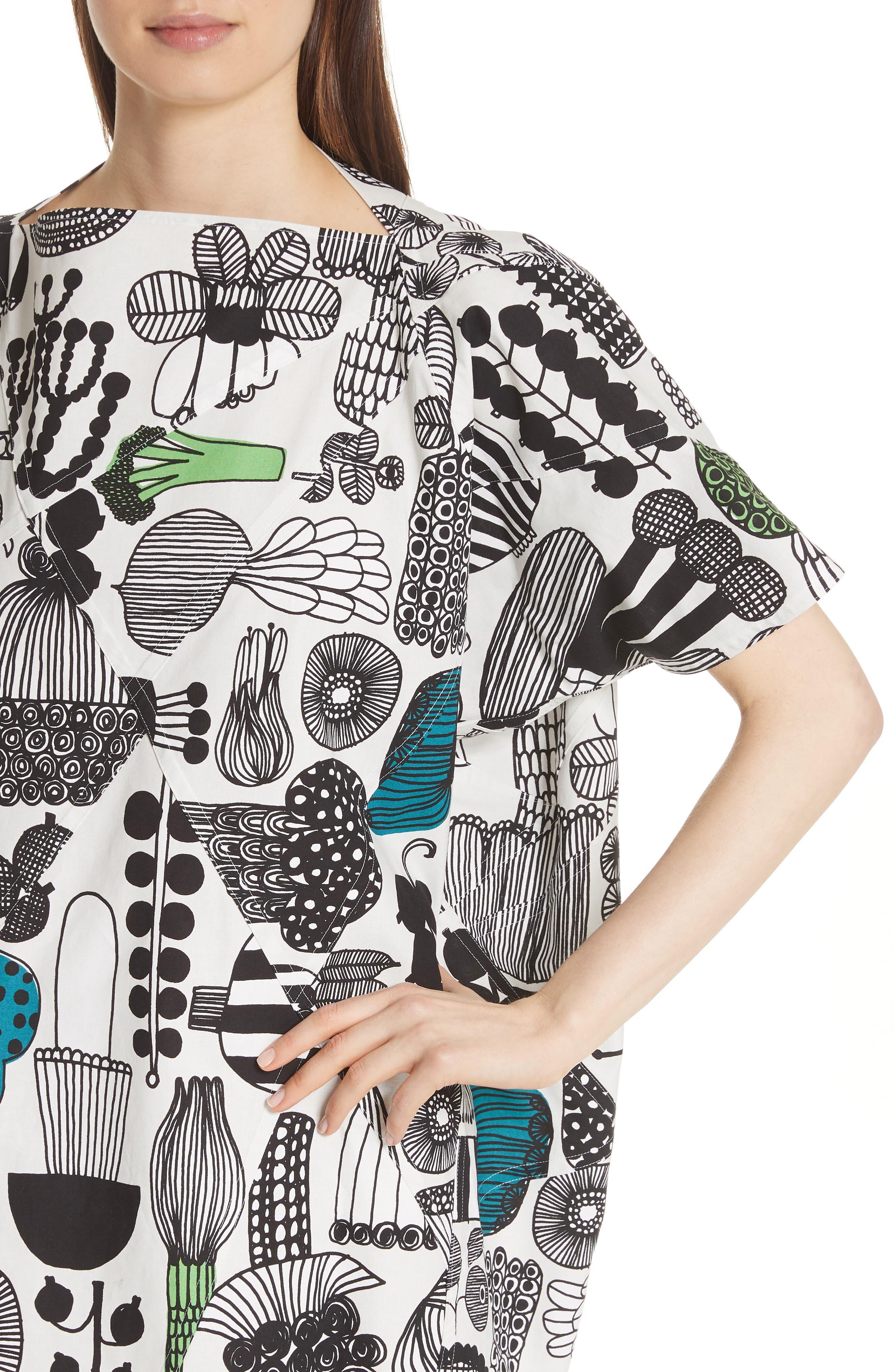 Vegetable Print Dress,                             Alternate thumbnail 4, color,