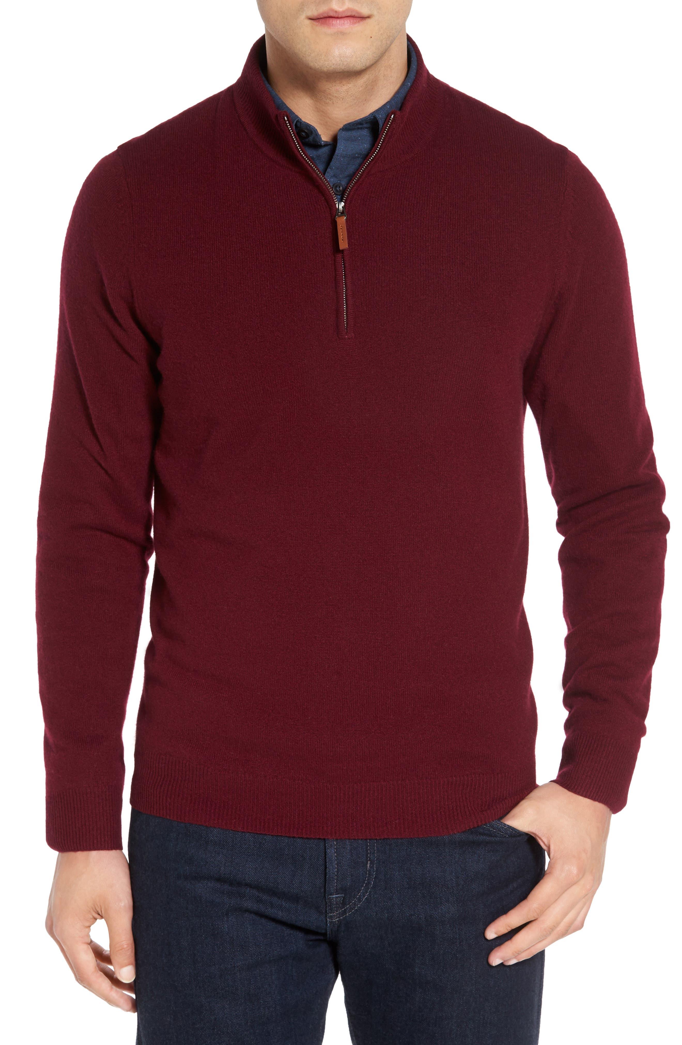Cashmere Quarter Zip Sweater,                             Alternate thumbnail 52, color,