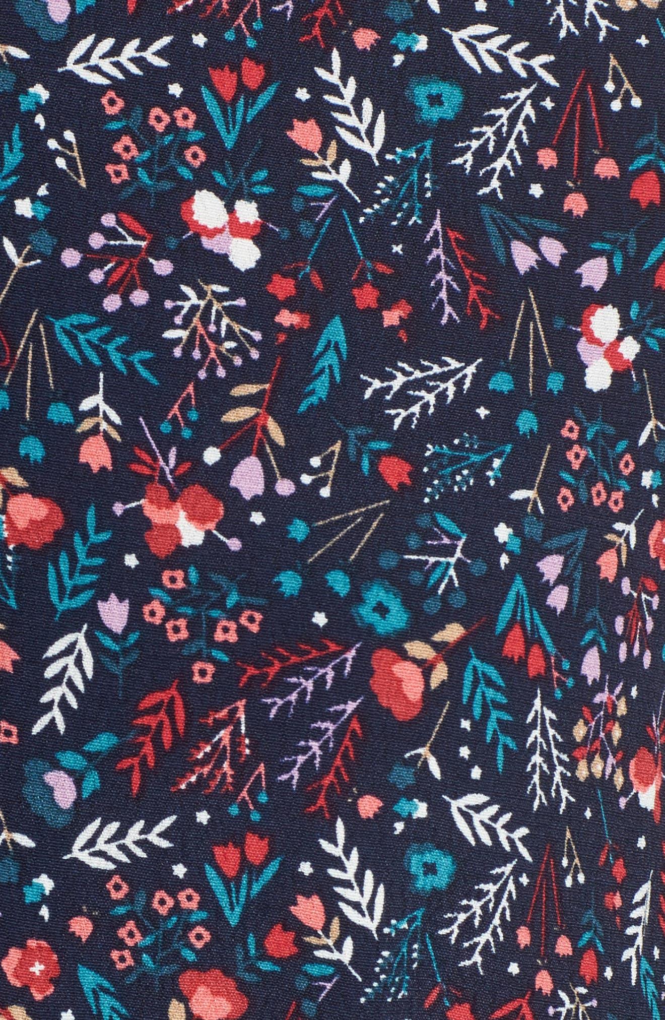 Caprice Floral Mix Shirtdress,                             Alternate thumbnail 5, color,                             497