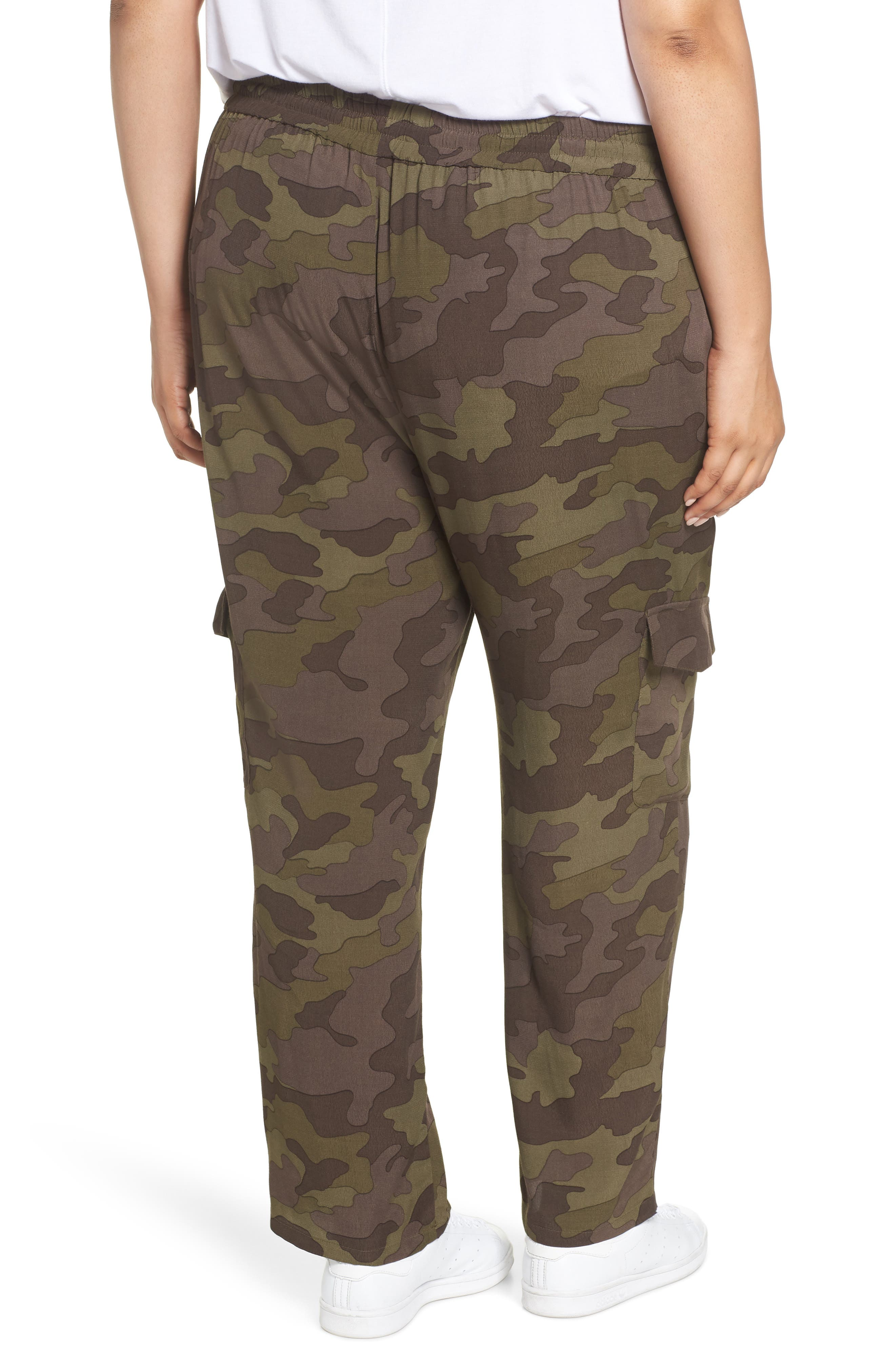 High Rise Camouflage Cargo Pants,                             Alternate thumbnail 9, color,                             210