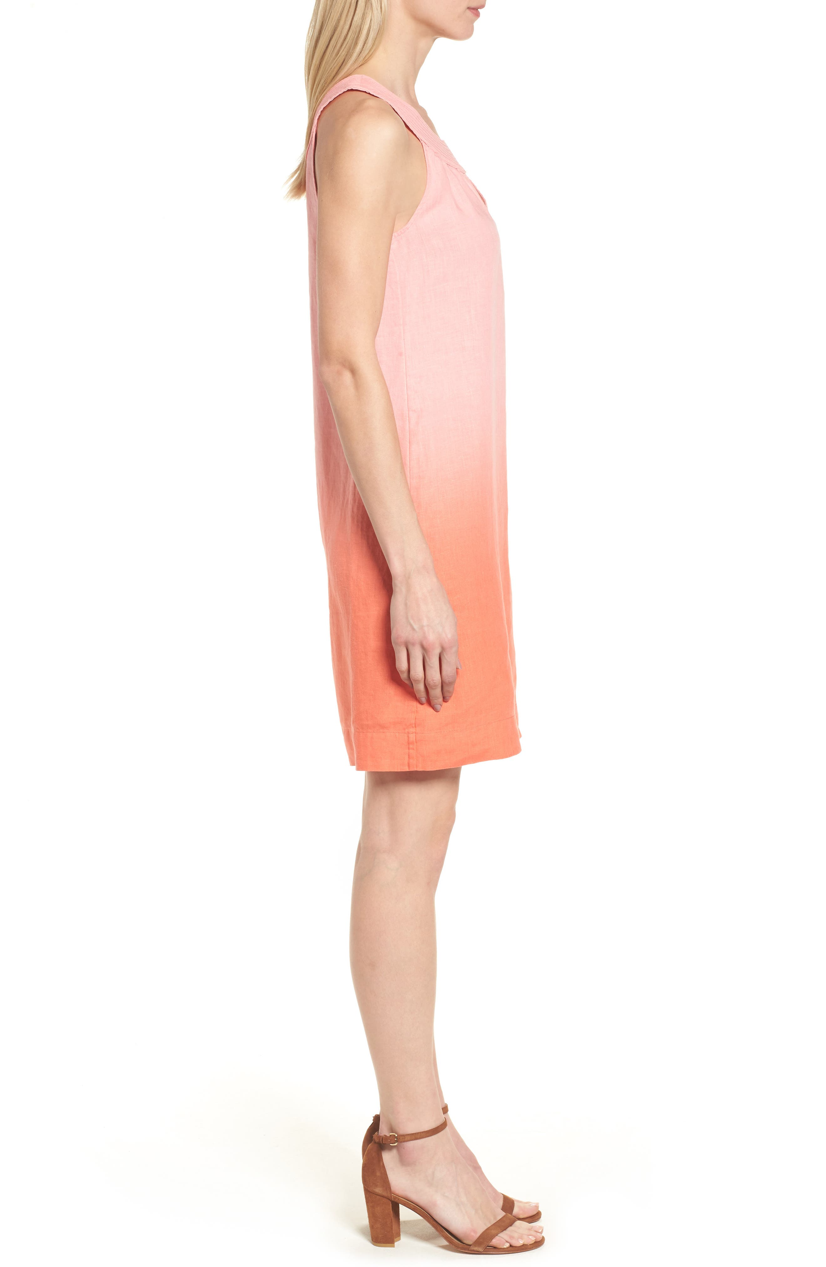 Two Palms Short Sundress,                             Alternate thumbnail 3, color,                             CABANA PINK/ BURNT CORAL