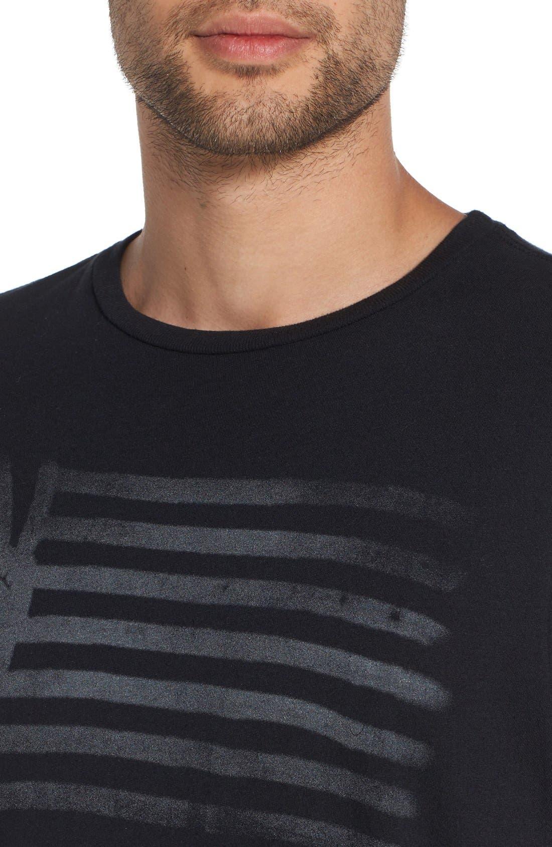 'Peace Flag' Graphic T-Shirt,                             Alternate thumbnail 5, color,                             001