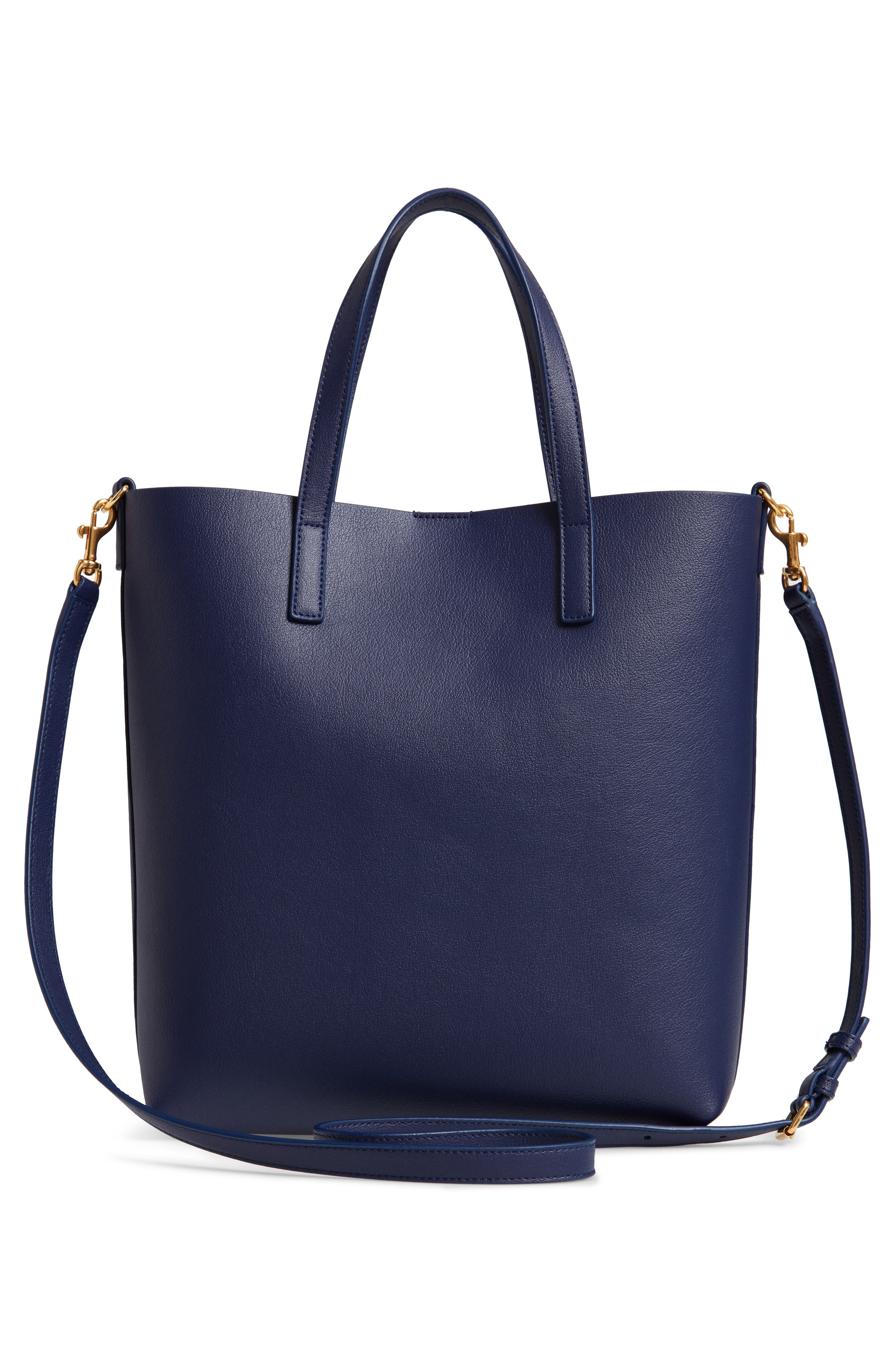 Toy Shopping Leather Tote,                             Alternate thumbnail 3, color,                             SAPPHIRE