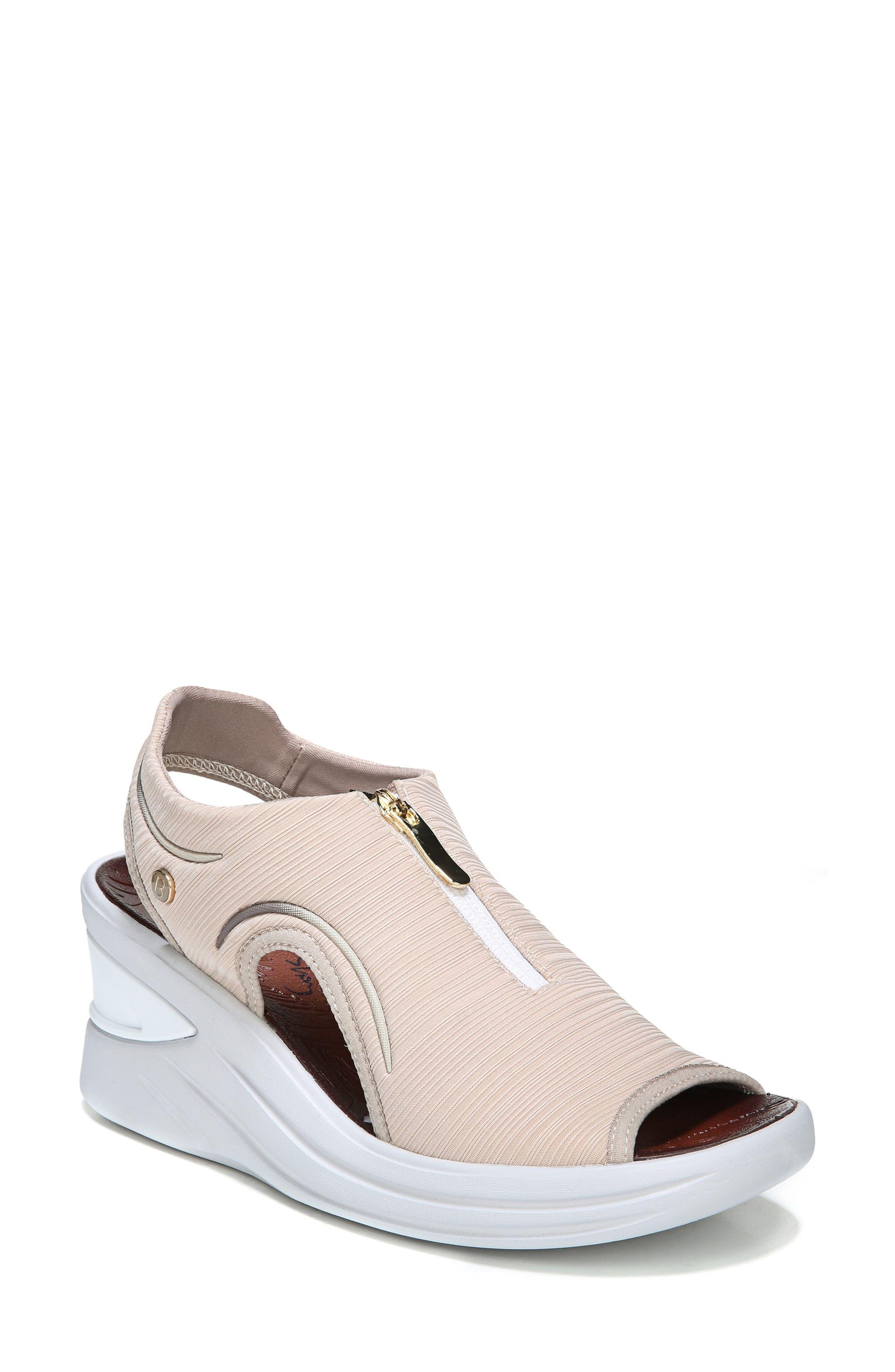 Vinny Wedge Sandal,                         Main,                         color, TAN FABRIC