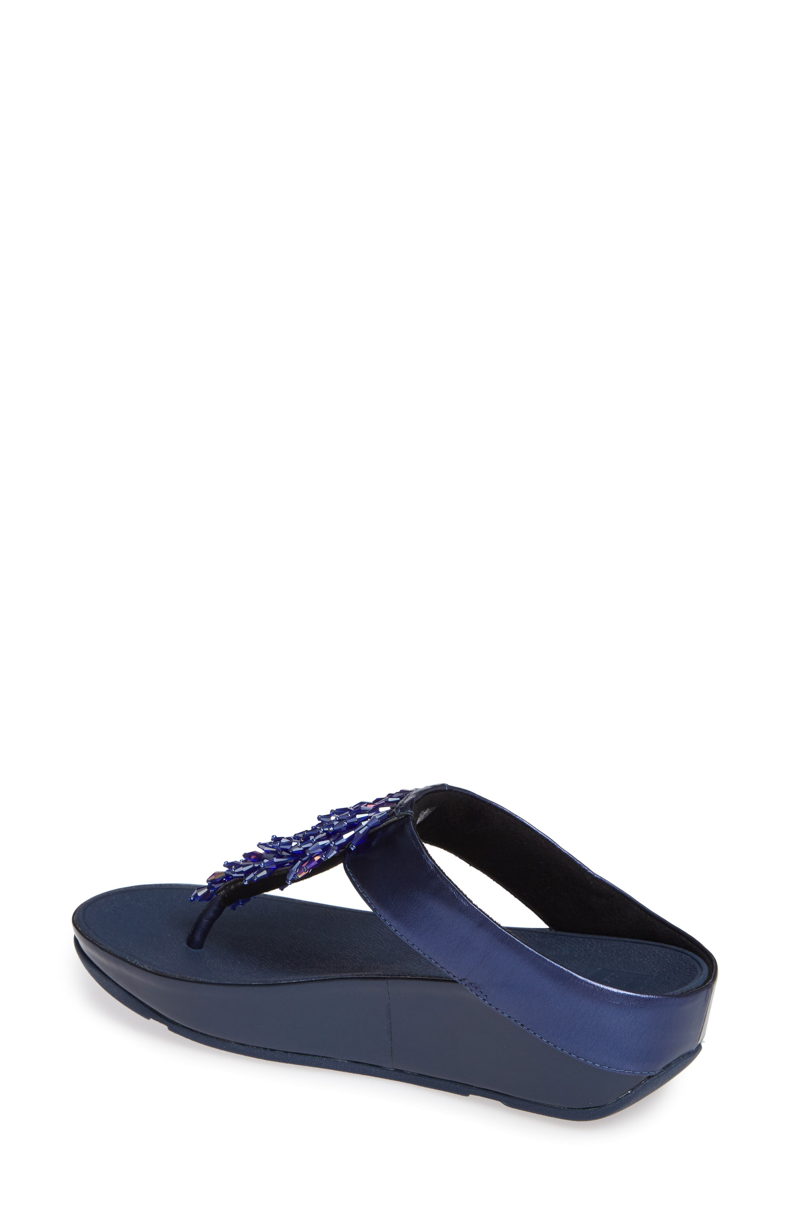 Rumba Flip Flop,                             Alternate thumbnail 2, color,                             METEOR BLUE LEATHER