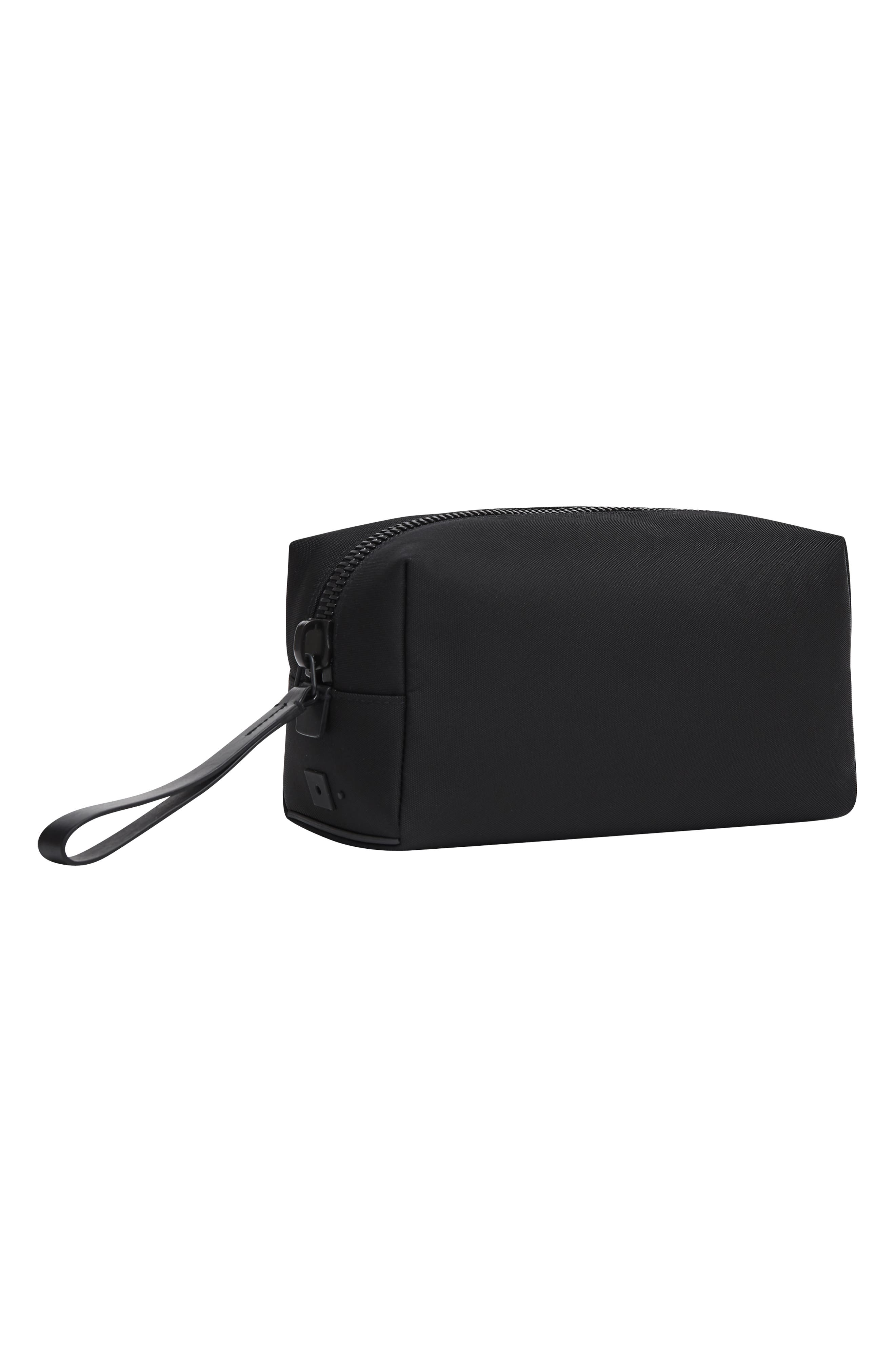 Nylon Dopp Kit,                             Alternate thumbnail 11, color,                             BLACK NYLON/ BLACK LEATHER