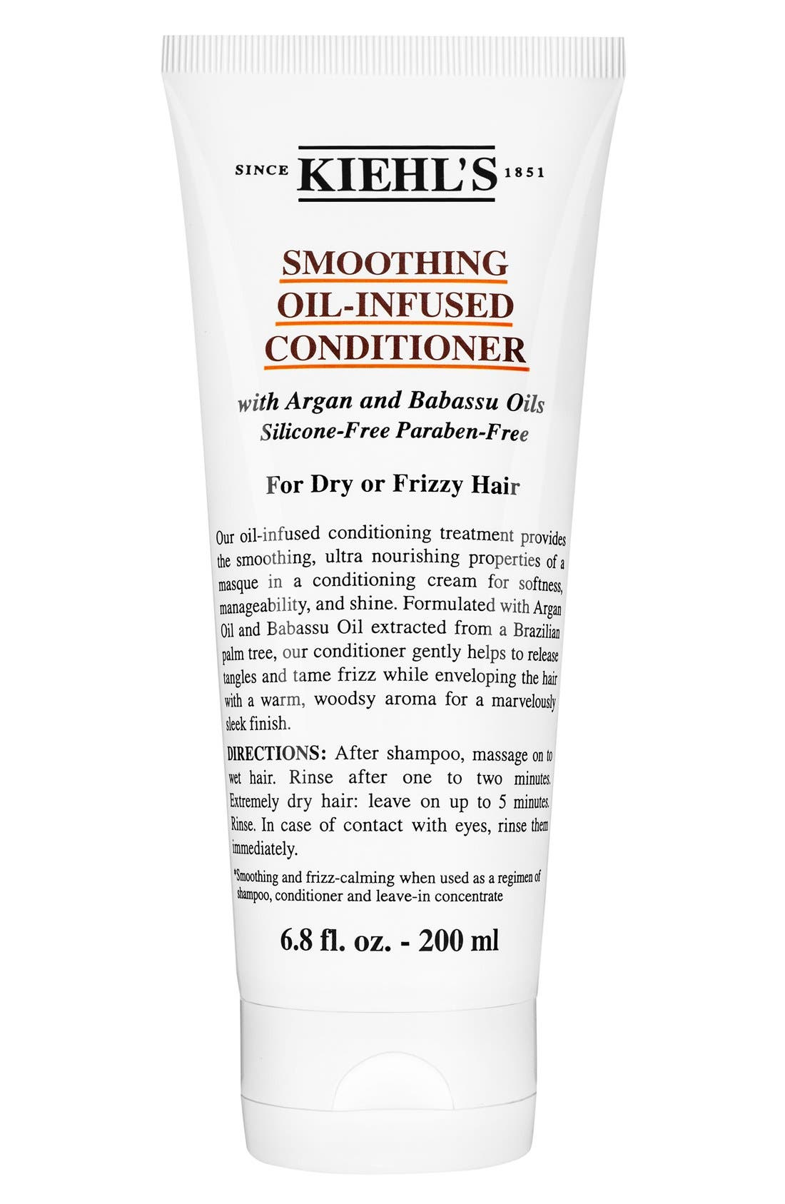 KIEHL'S SINCE 1851,                             Smoothing Oil-Infused Conditioner,                             Main thumbnail 1, color,                             NO COLOR