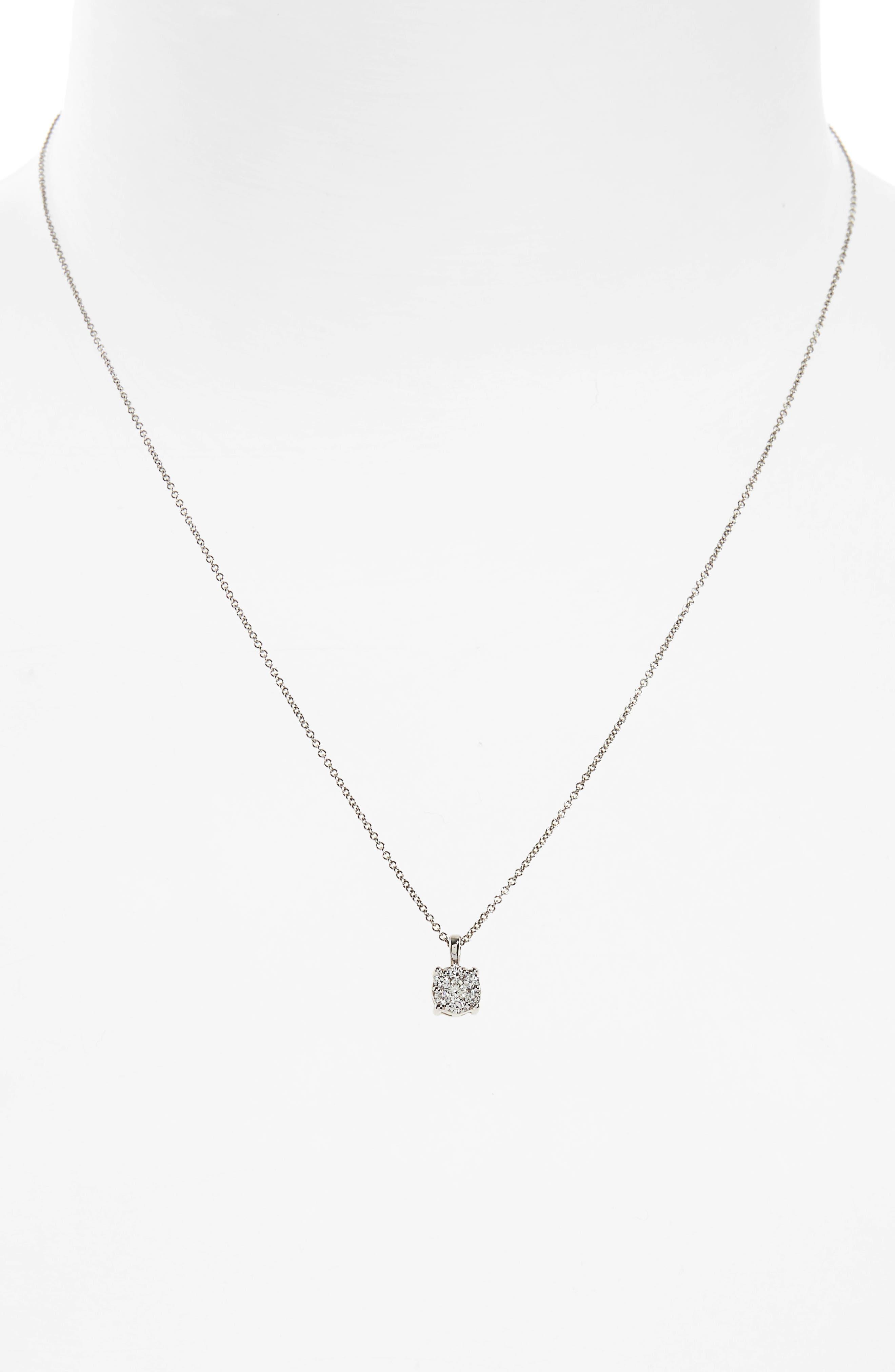 Lucky 7 Diamond Pendant Necklace,                             Alternate thumbnail 3, color,                             711