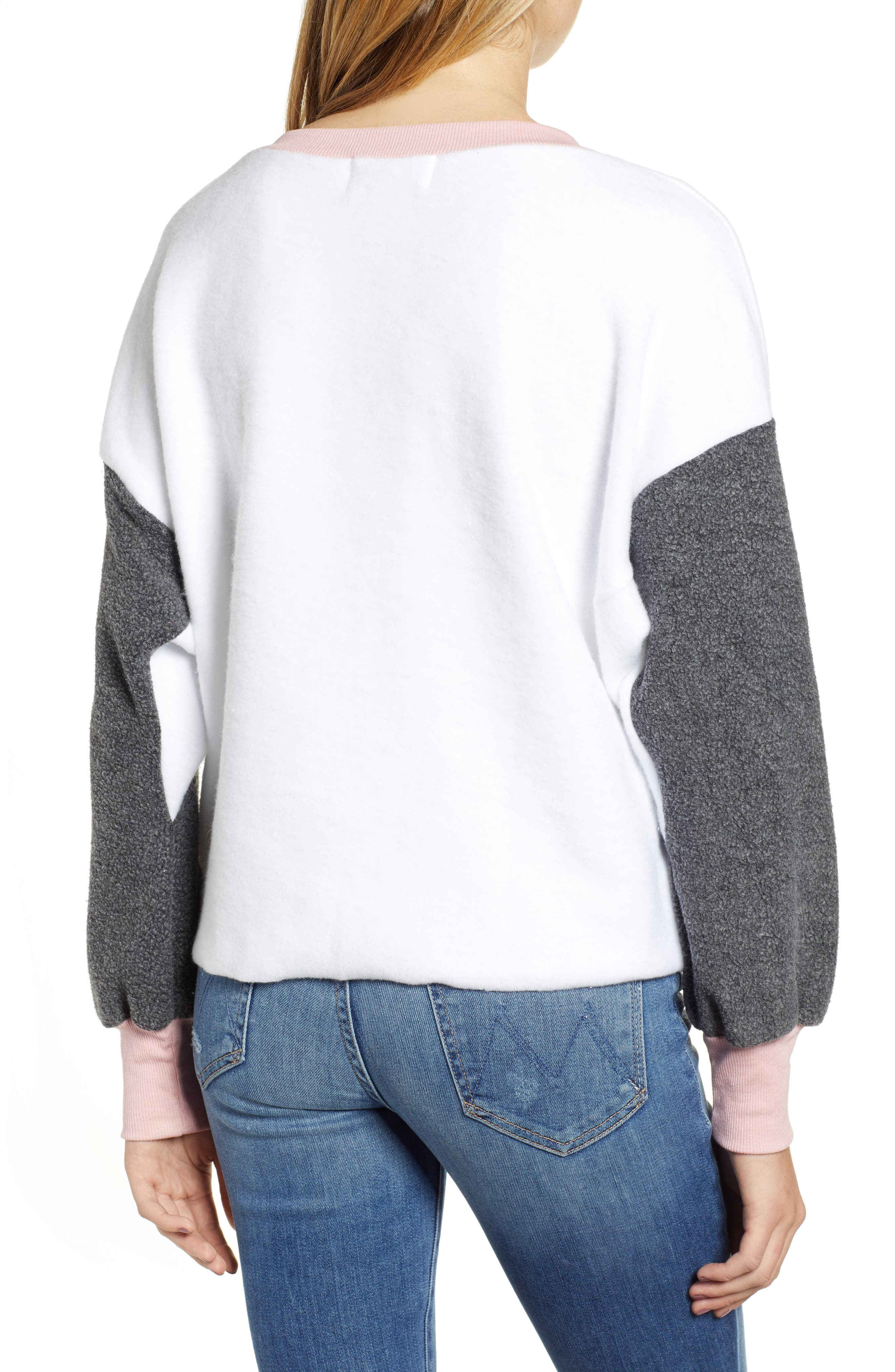 True Love Sweatshirt,                             Alternate thumbnail 2, color,                             CLEAN WHITE MULTI