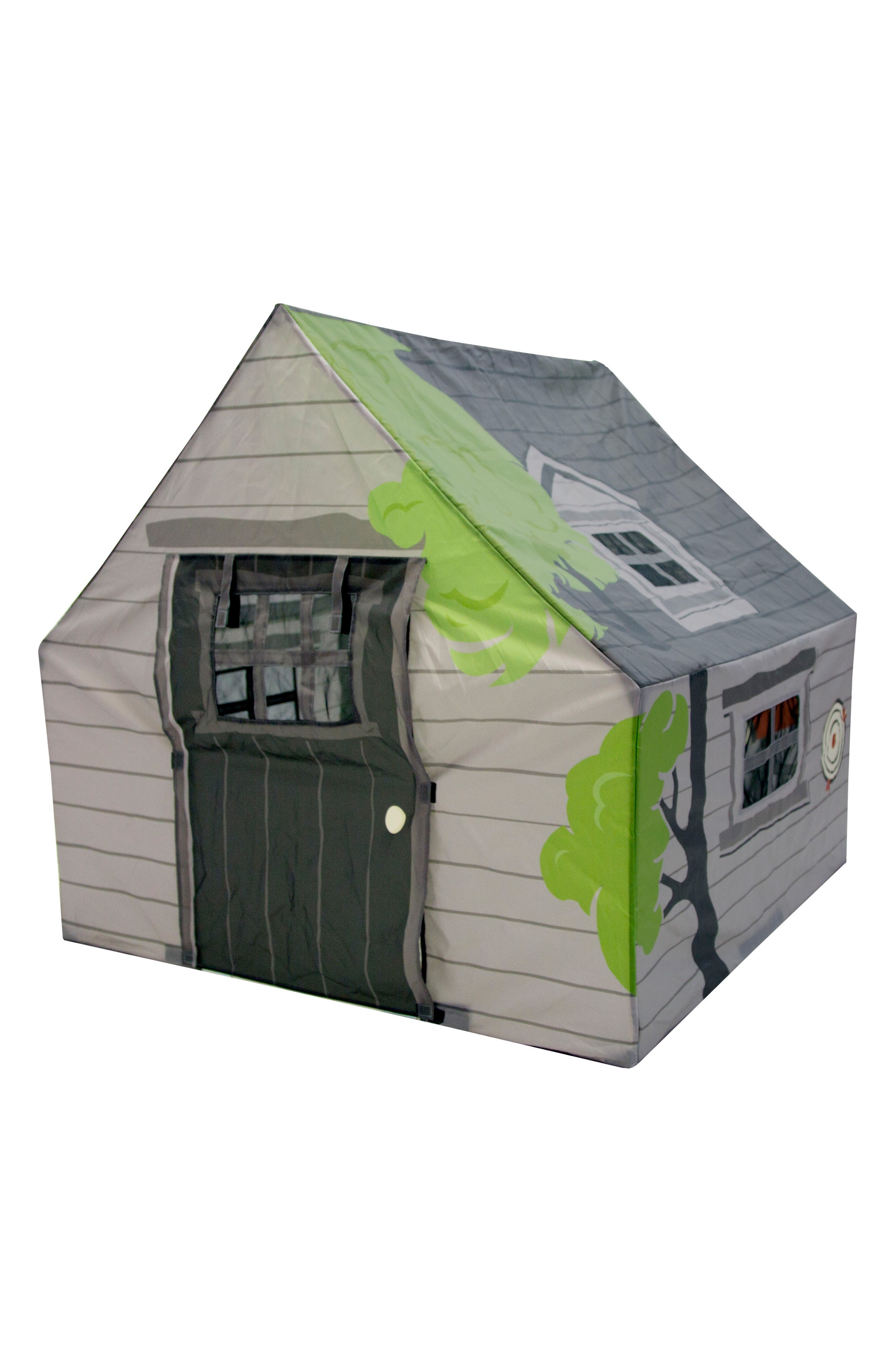 Treehouse Hideaway Playhouse Tent,                             Main thumbnail 1, color,                             GREEN