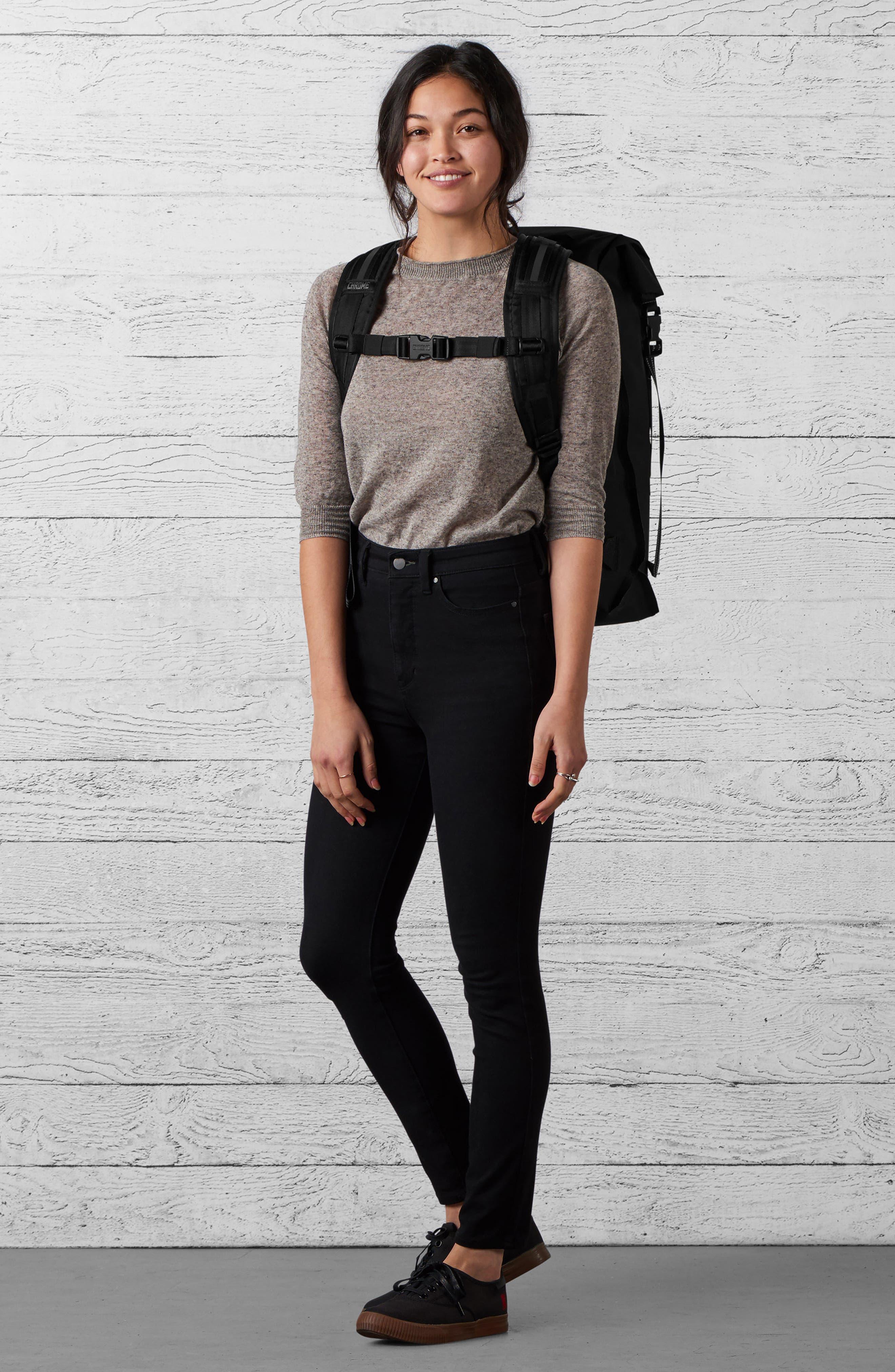 Urban Ex Rolltop Waterproof Backpack,                             Alternate thumbnail 9, color,                             BLACK/ BLACK