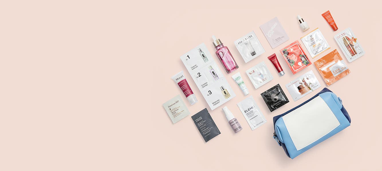 Free 20-piece gift with $125 purchase. An $81 value.