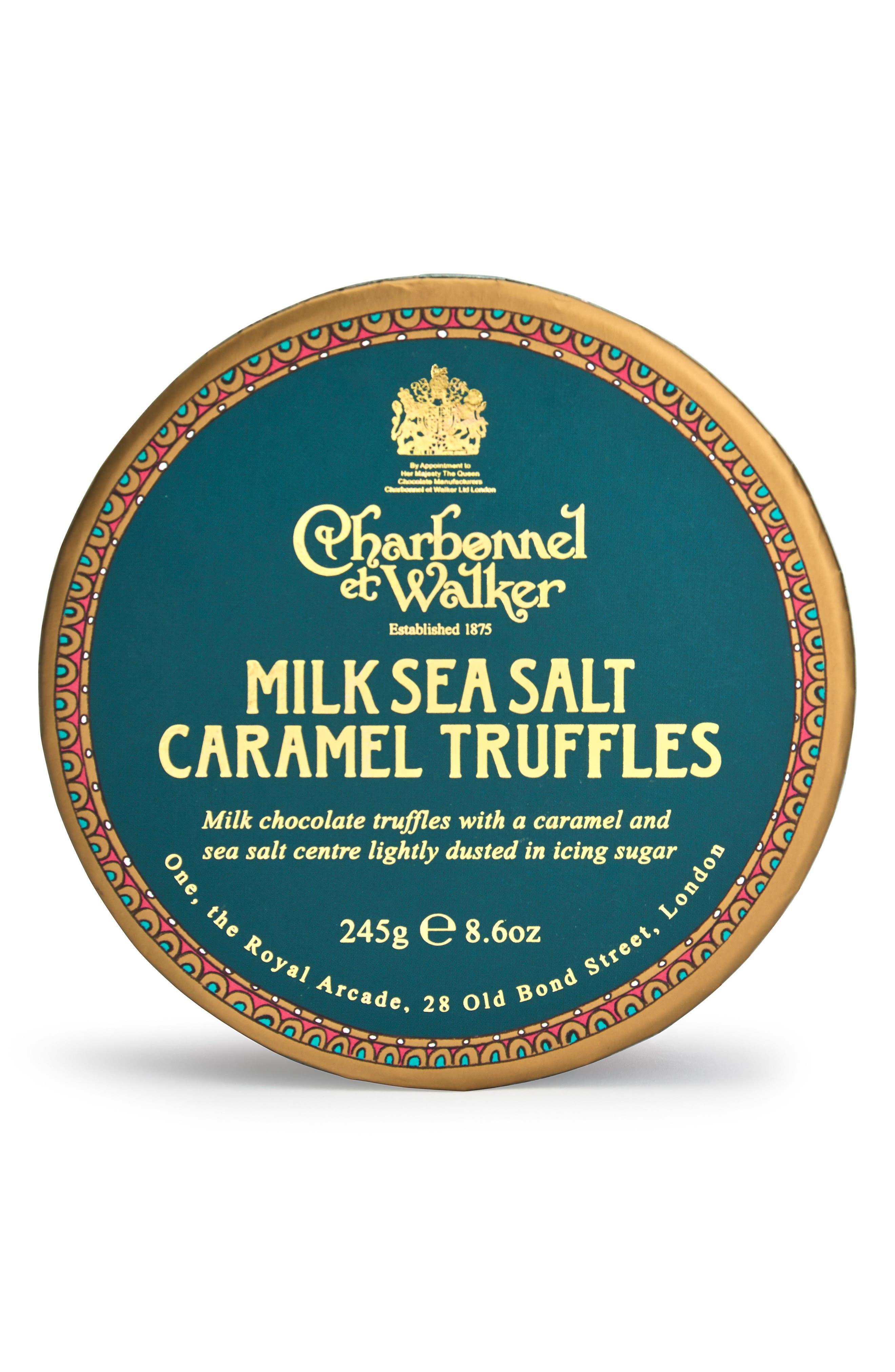 Sea Salt Milk Chocolate Truffles in Gift Box,                             Main thumbnail 1, color,                             GREEN