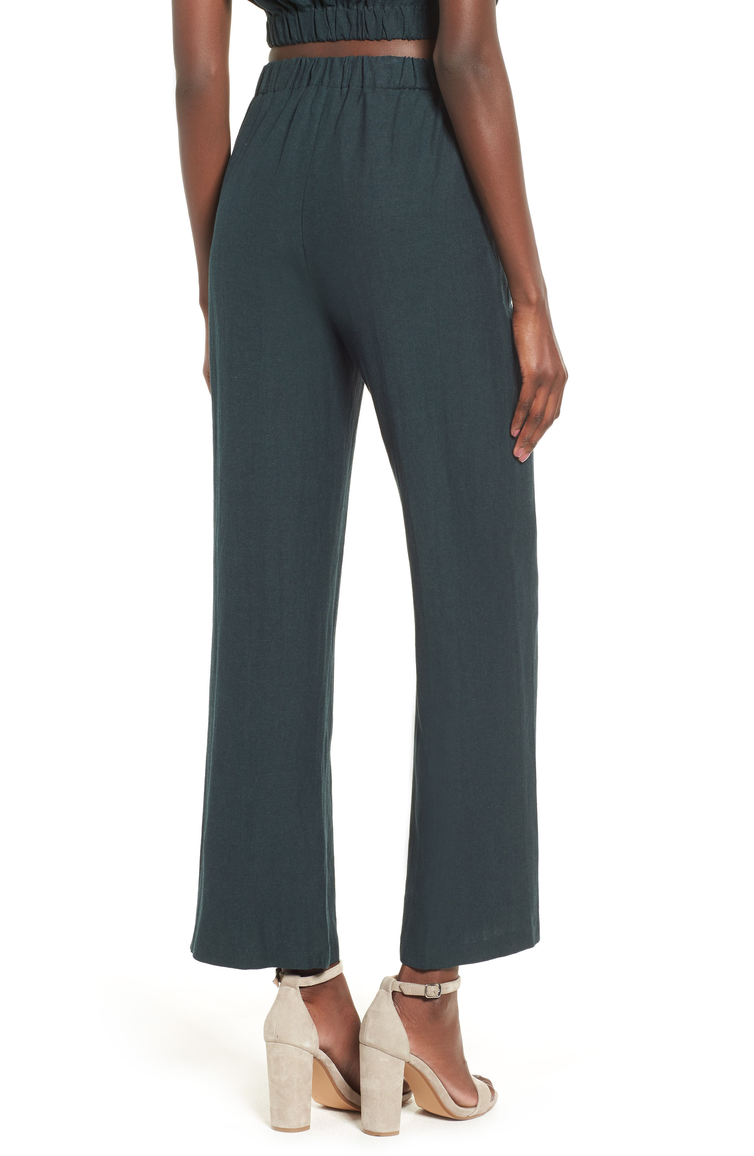 Belted High Waist Pants,                             Alternate thumbnail 2, color,                             FOREST