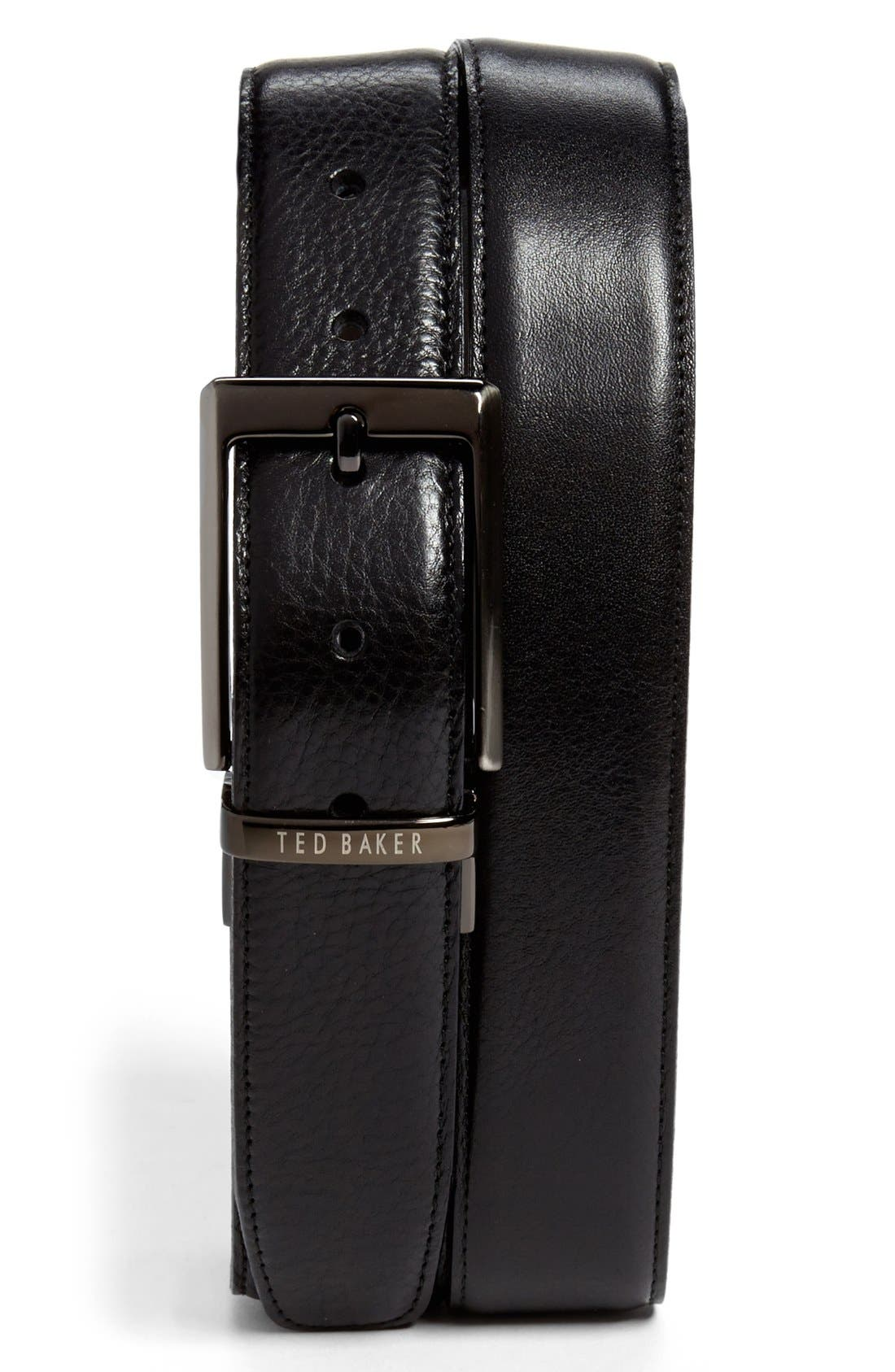 Stitched Reversible Belt,                             Main thumbnail 1, color,