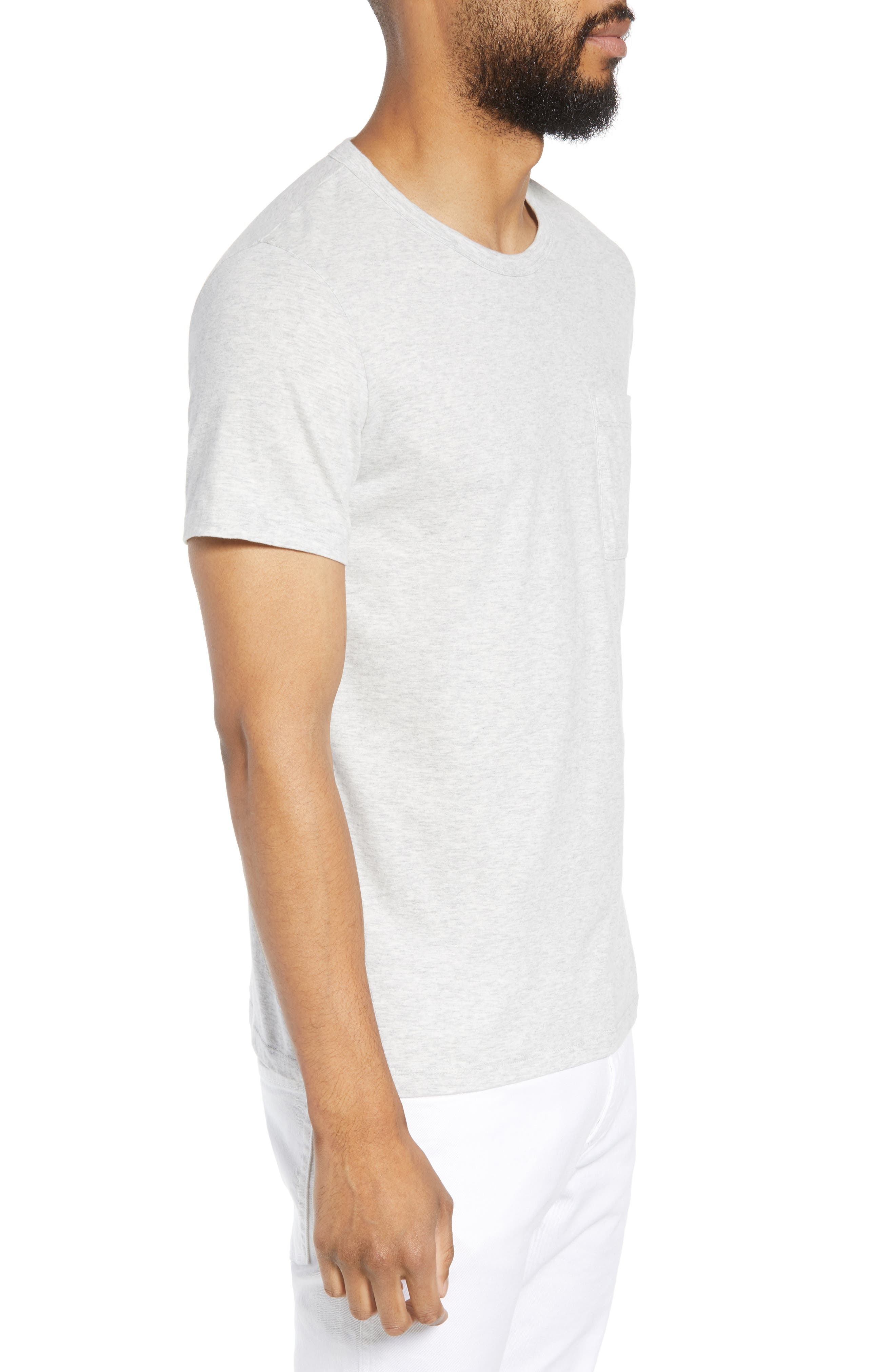 THEORY,                             Essential Pocket T-Shirt,                             Alternate thumbnail 3, color,                             020