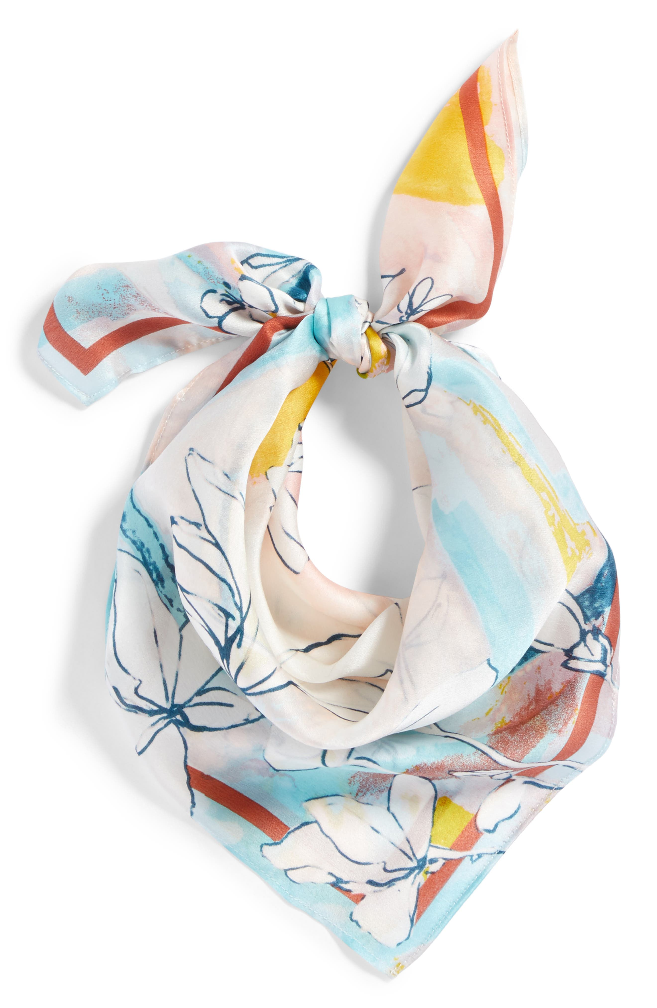 Print Silk Scarf,                             Alternate thumbnail 10, color,