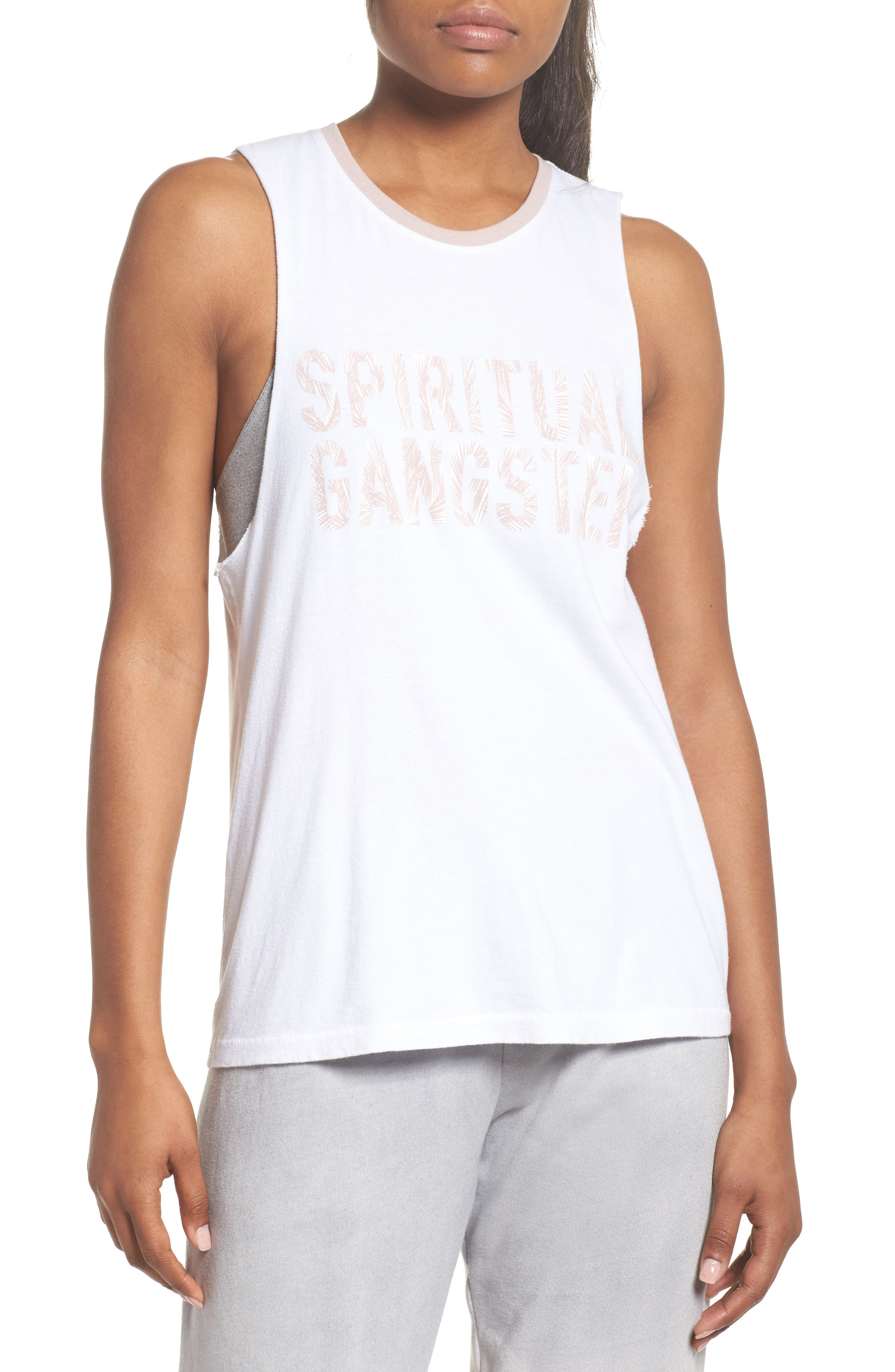 Palm Graphic Tank,                         Main,                         color, STARDUST
