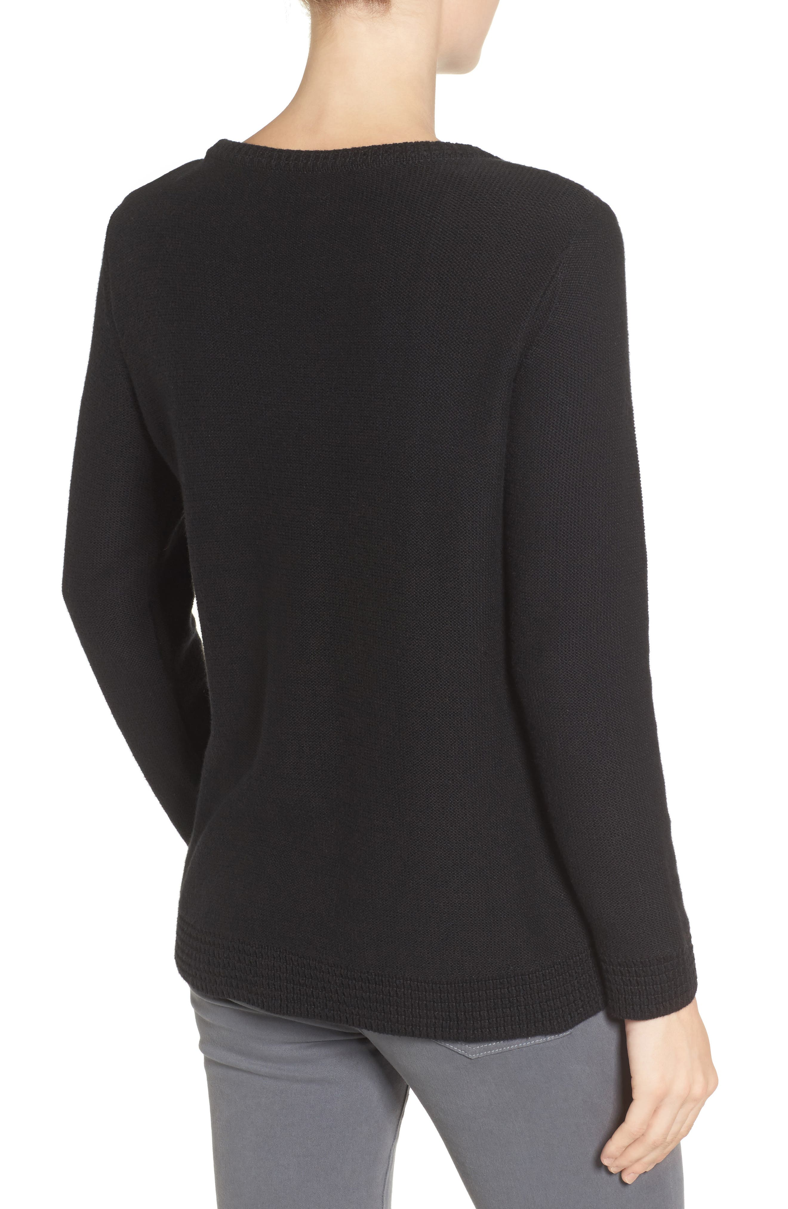 Wiley Maternity/Nursing Sweatshirt,                             Alternate thumbnail 3, color,                             BLACK