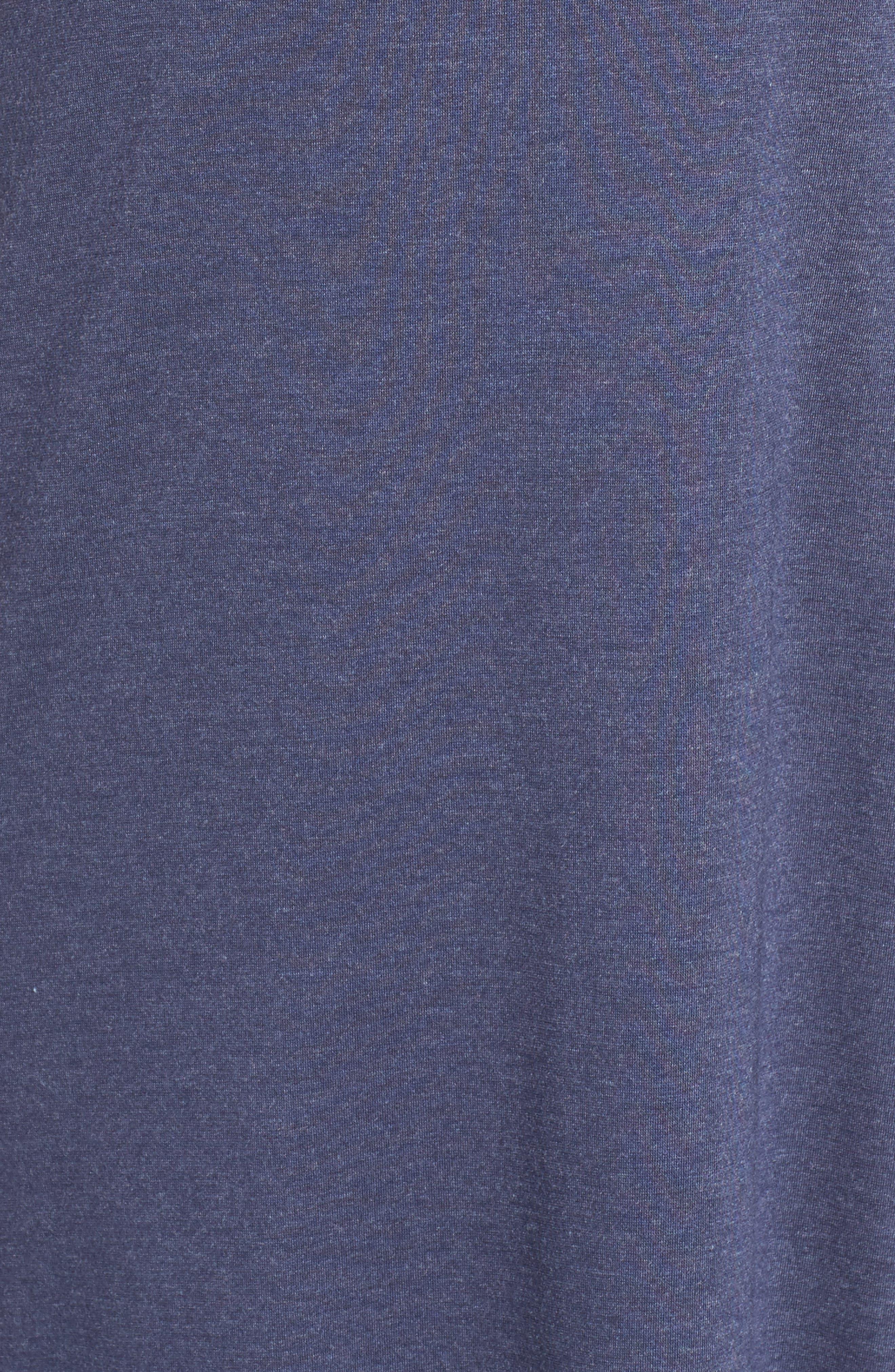 Shangri La Nightgown,                             Alternate thumbnail 5, color,                             HEATHER NIGHT BLUE