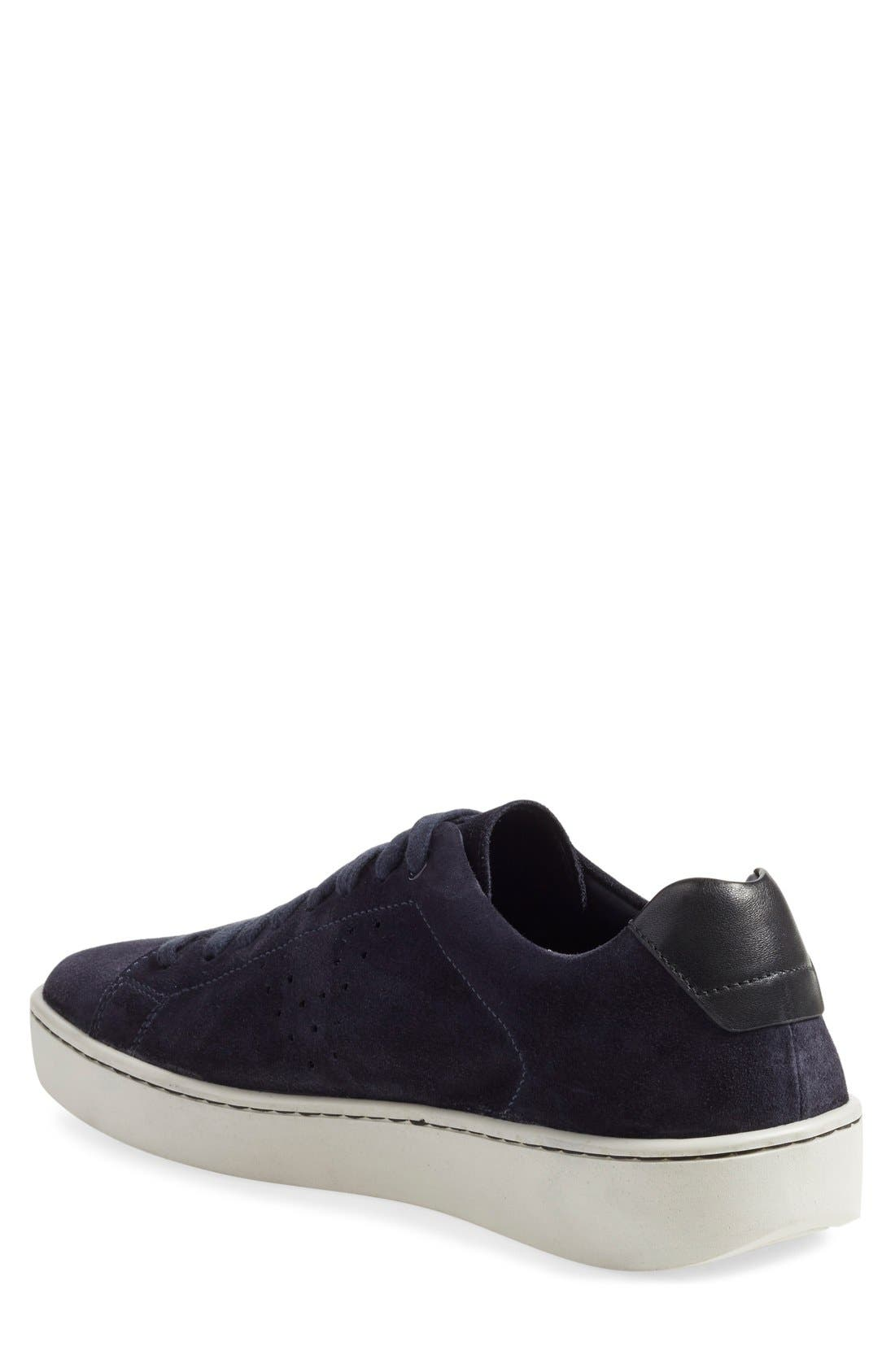 'Simon' Perforated Sneaker,                             Alternate thumbnail 4, color,                             407