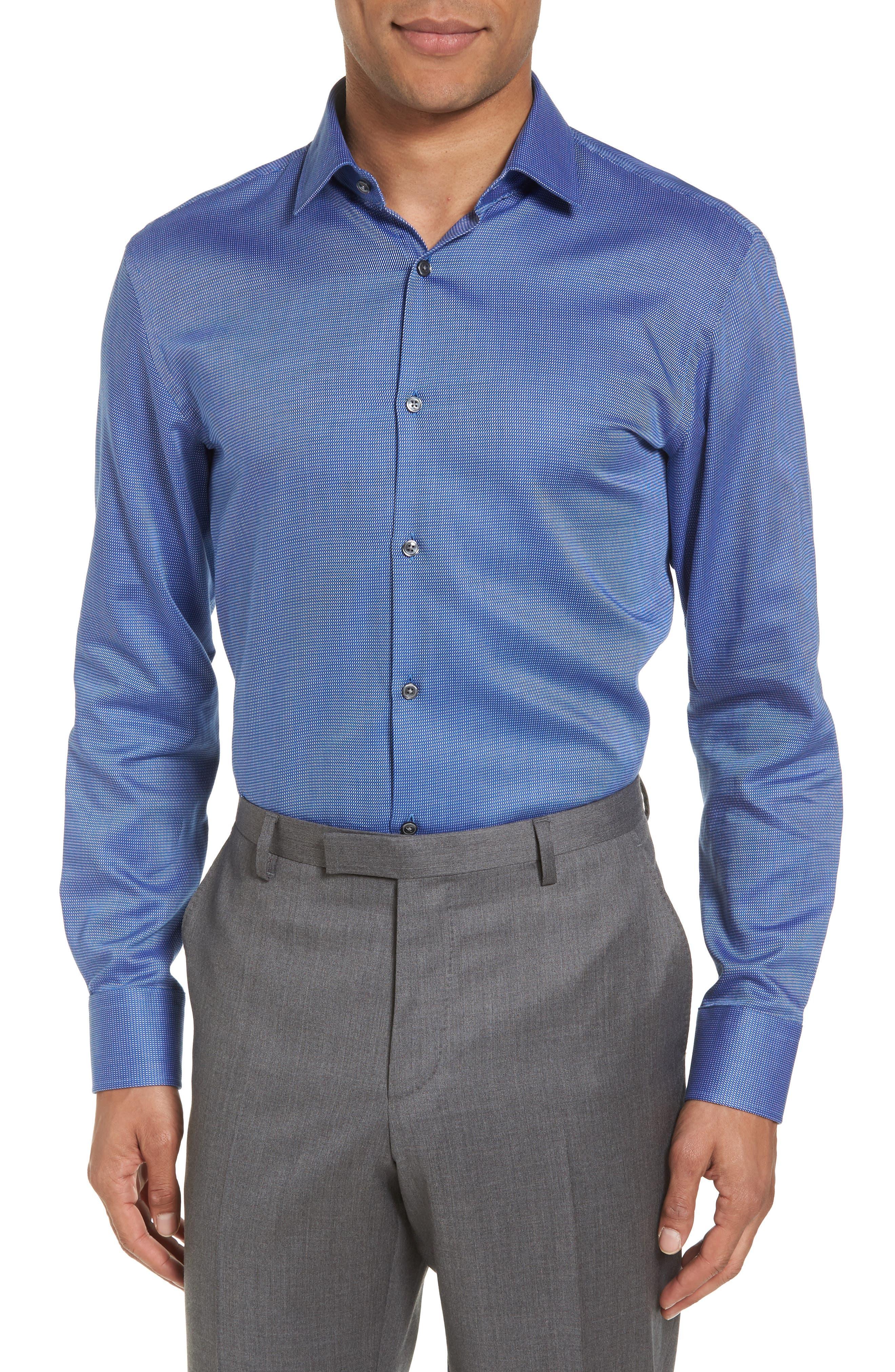 Sharp Fit Solid Dress Shirt,                             Main thumbnail 1, color,                             410