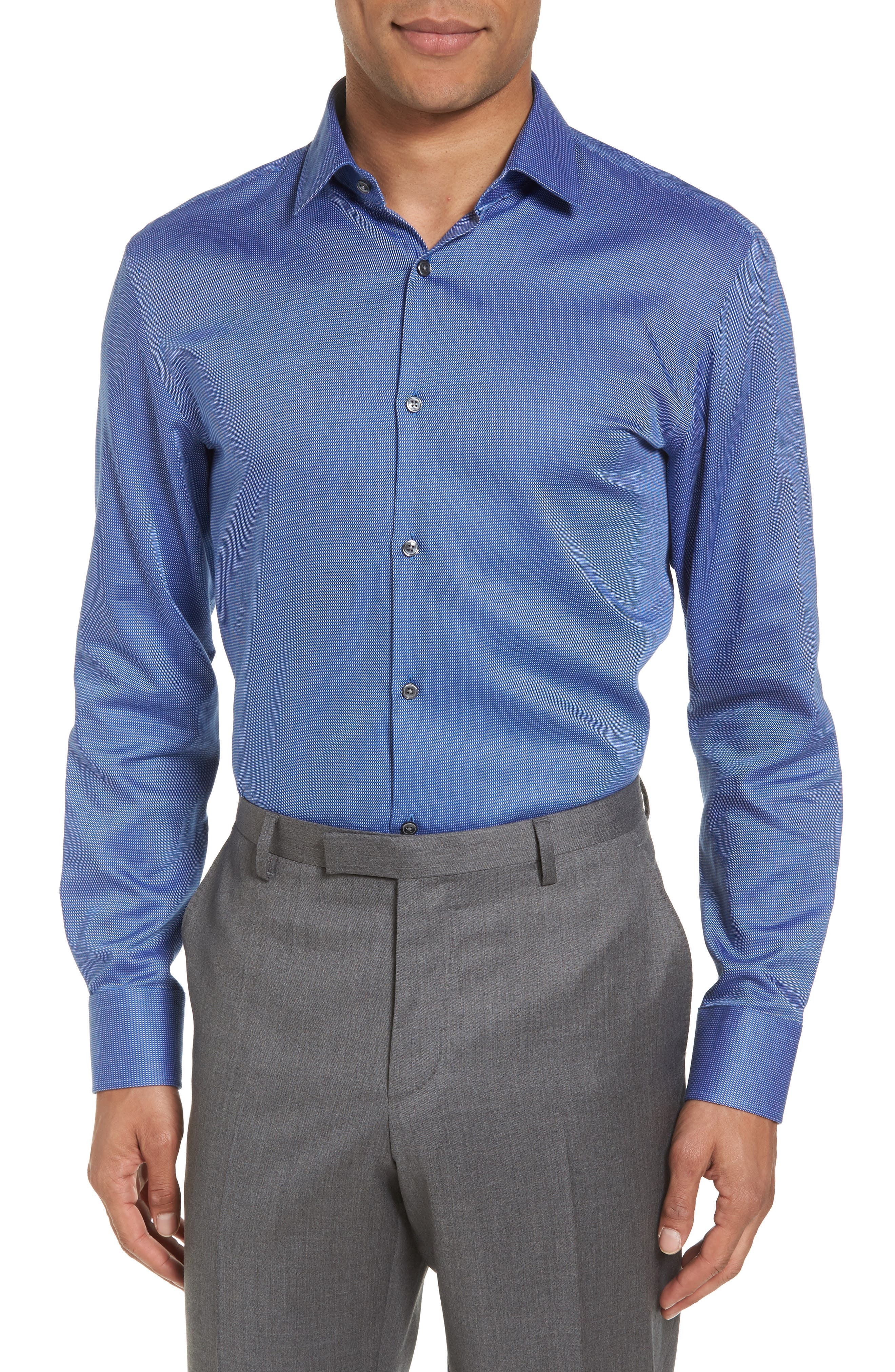 Sharp Fit Solid Dress Shirt,                         Main,                         color, 410