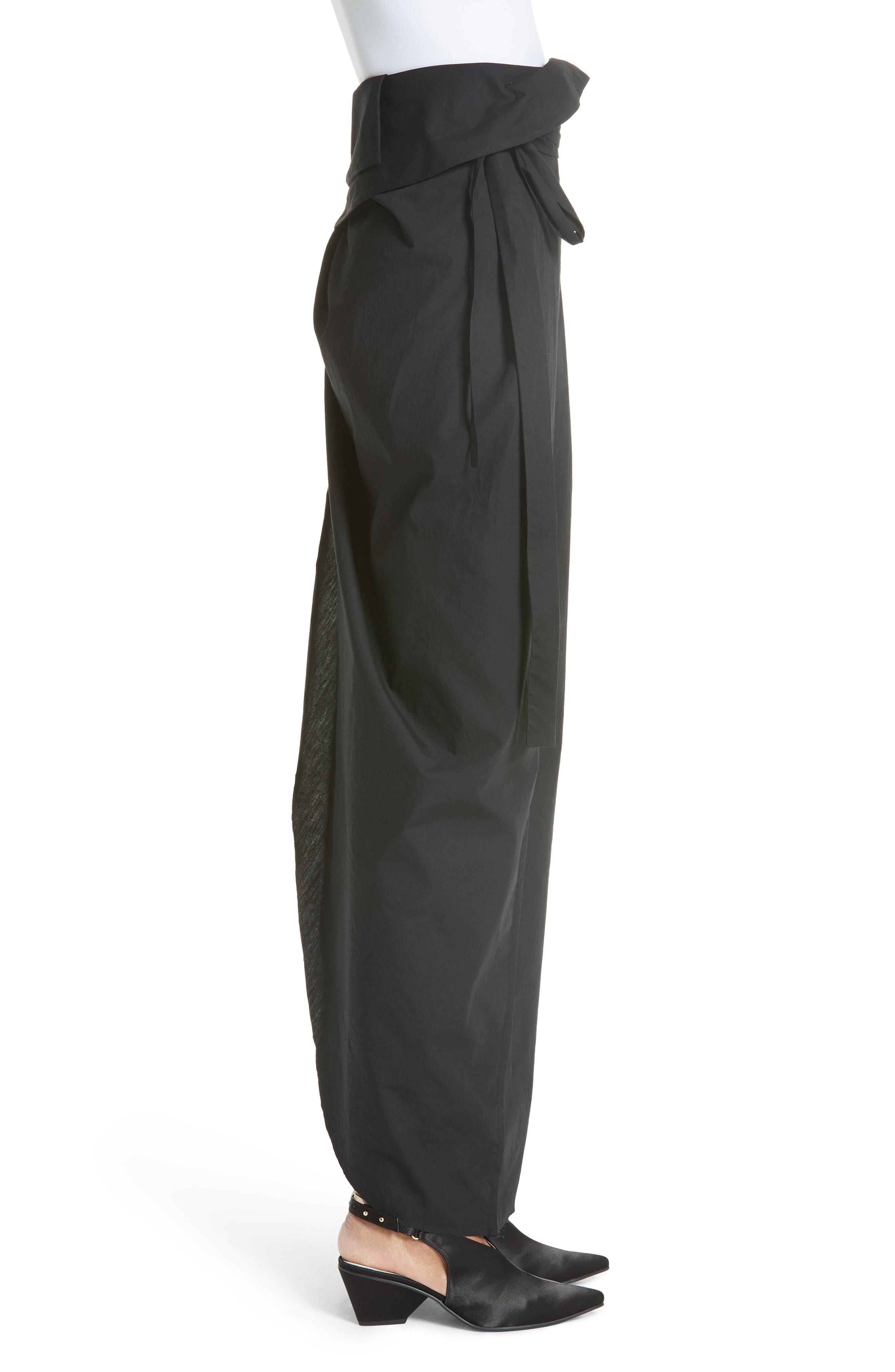 High Waist Wrap Skirt,                             Alternate thumbnail 3, color,                             001