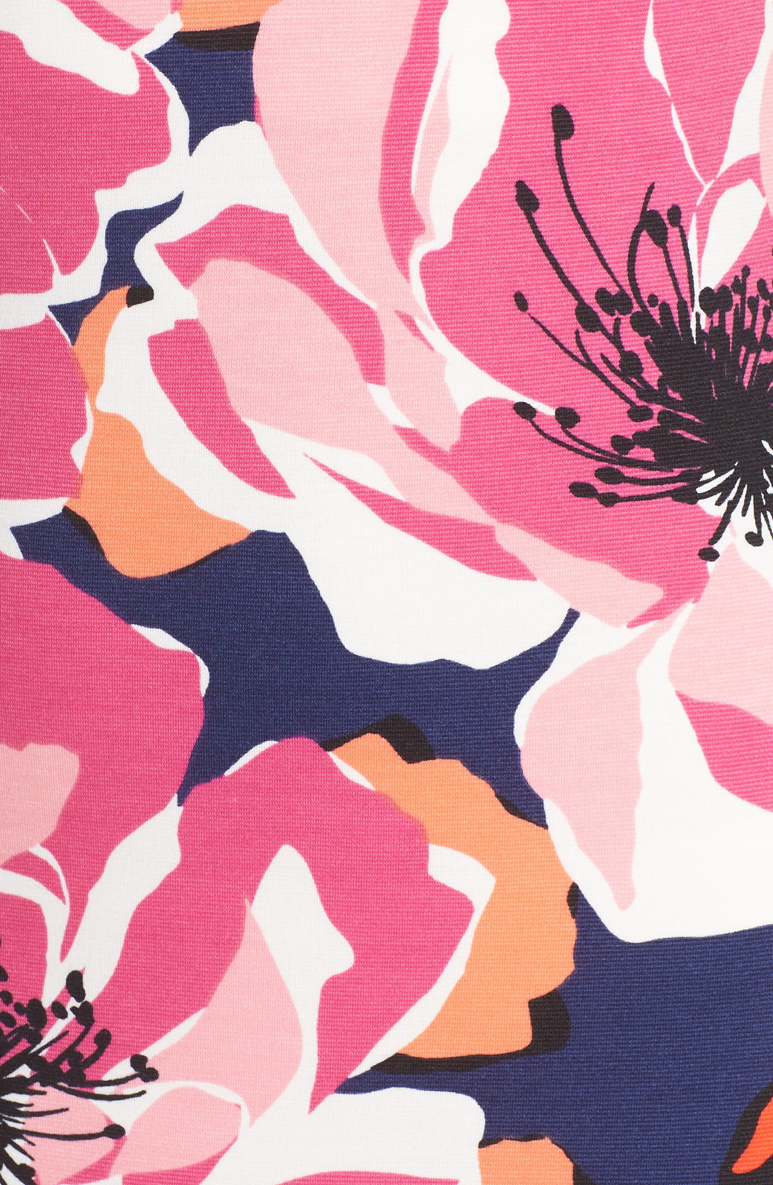 TRINA TRINA TURK,                             Sirena Ruffle Sheath Dress,                             Alternate thumbnail 5, color,                             650