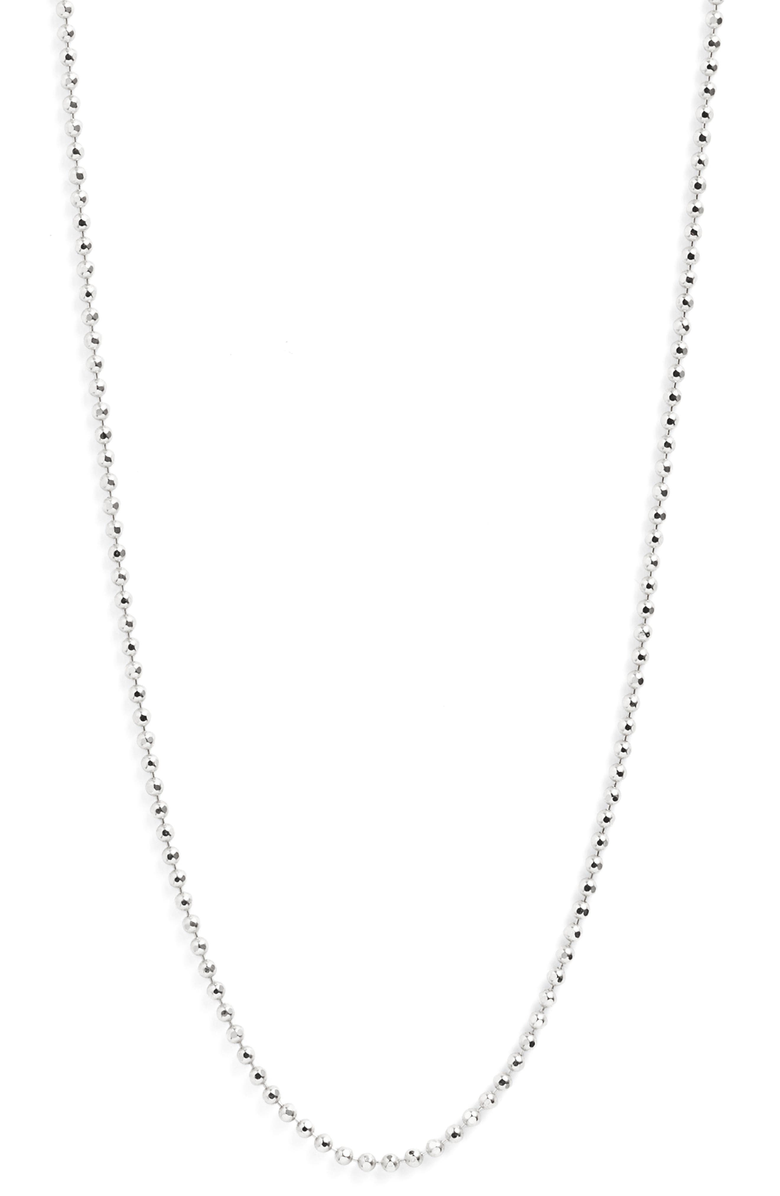 Long Ball Chain Necklace,                             Alternate thumbnail 3, color,                             040