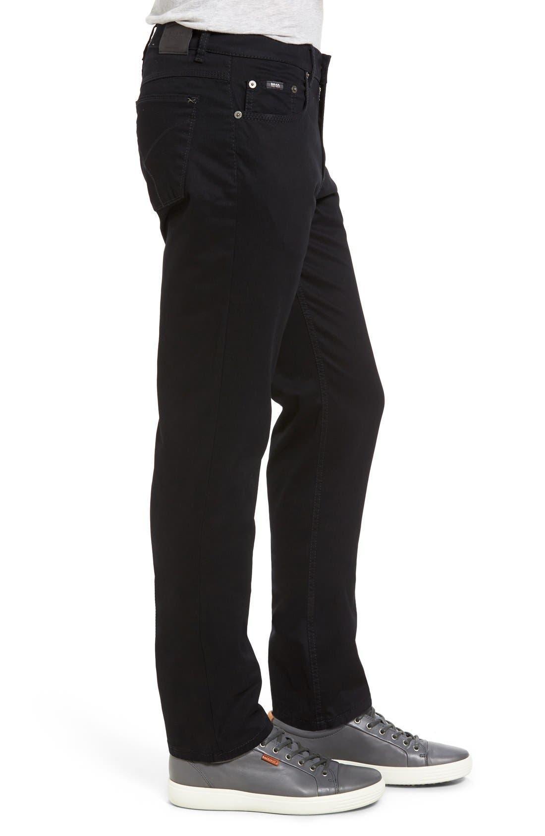 Cooper Prestige Stretch Cotton Pants,                             Alternate thumbnail 9, color,                             PERMA BLACK