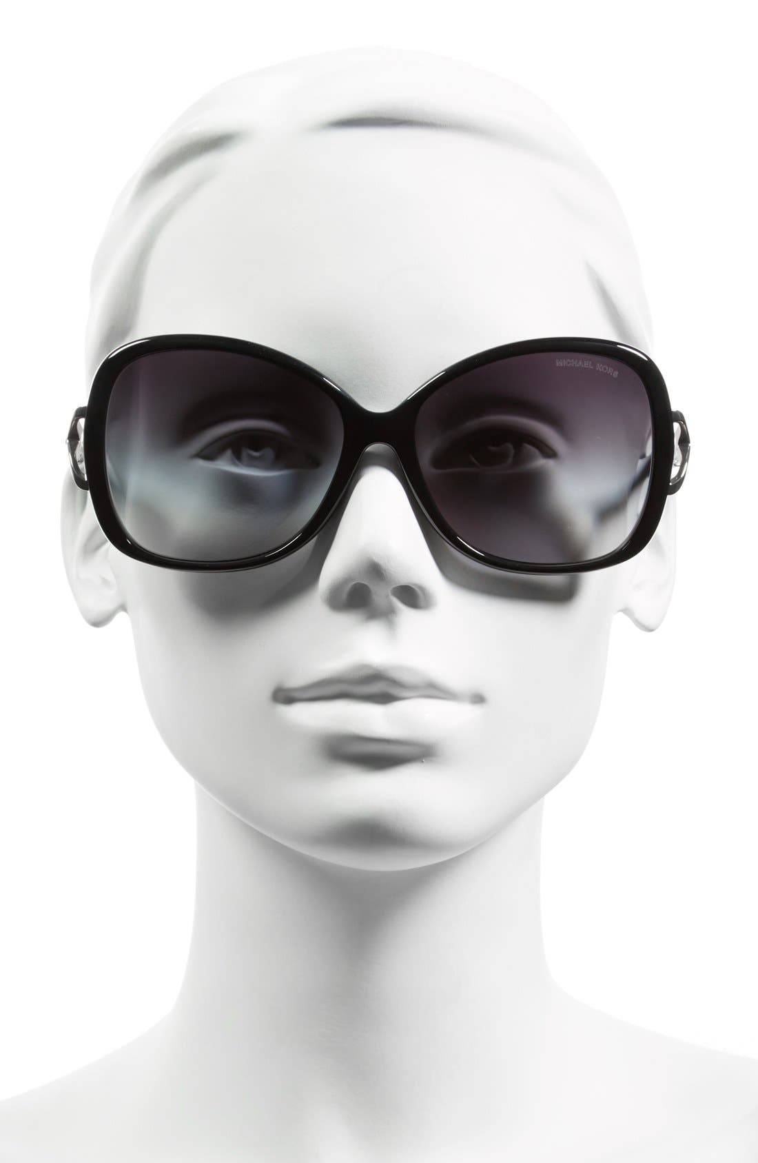 Collection 60mm Butterfly Sunglasses,                             Alternate thumbnail 2, color,                             001