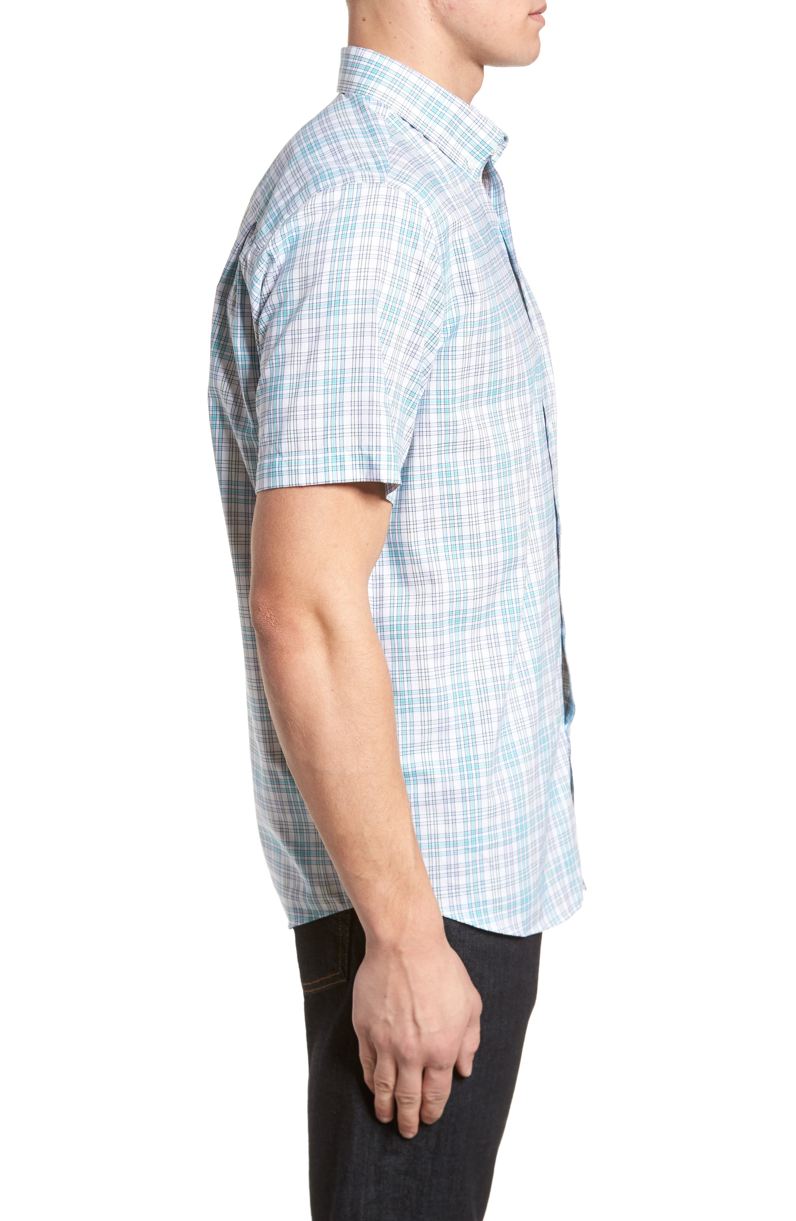 Isaac Plaid Easy Care Woven Shirt,                             Alternate thumbnail 3, color,                             328