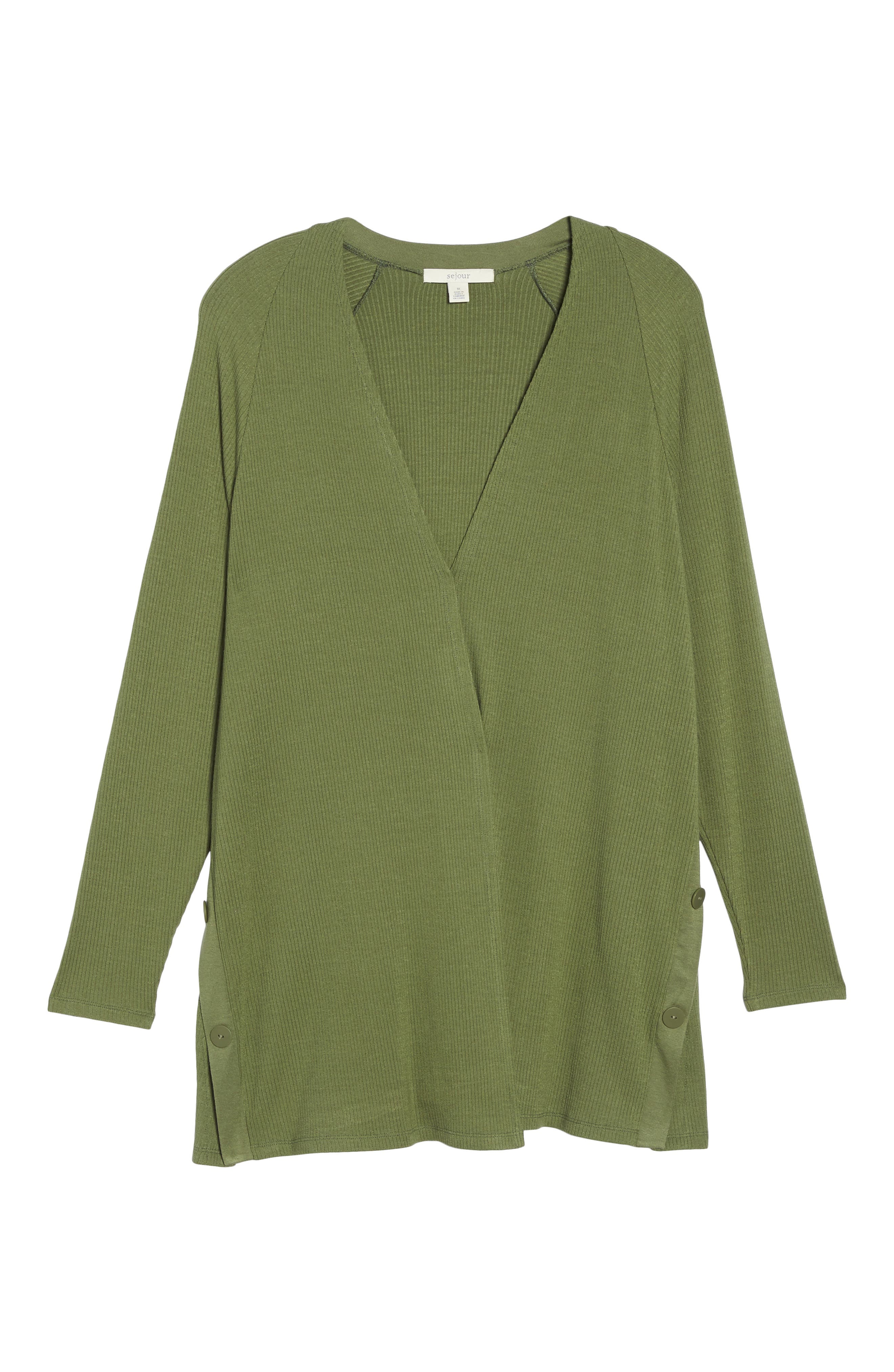 Easy Long Open Front Cardigan,                             Alternate thumbnail 12, color,