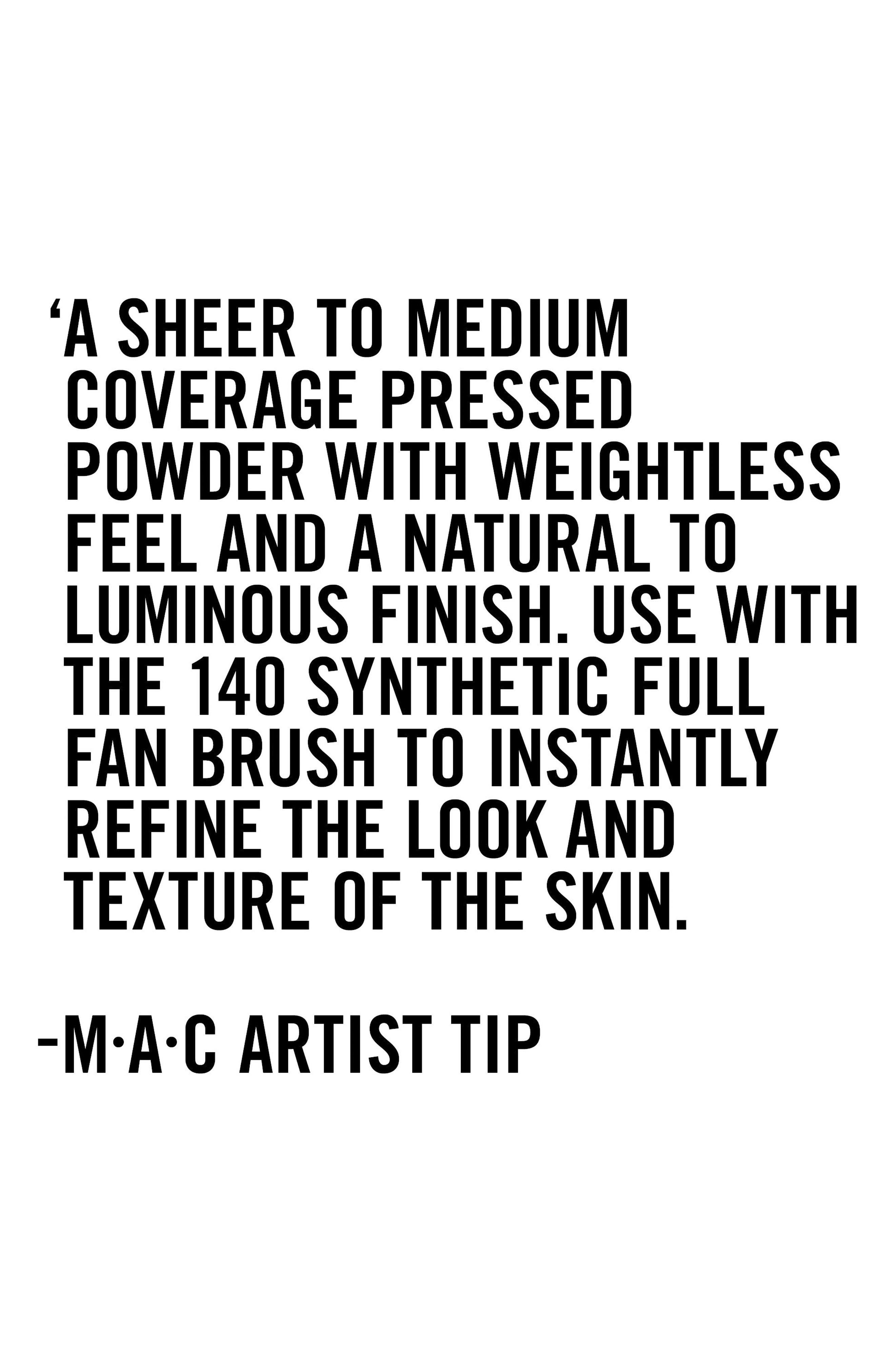 MAC Next to Nothing Powder/Pressed,                             Alternate thumbnail 6, color,                             MEDIUM DARK