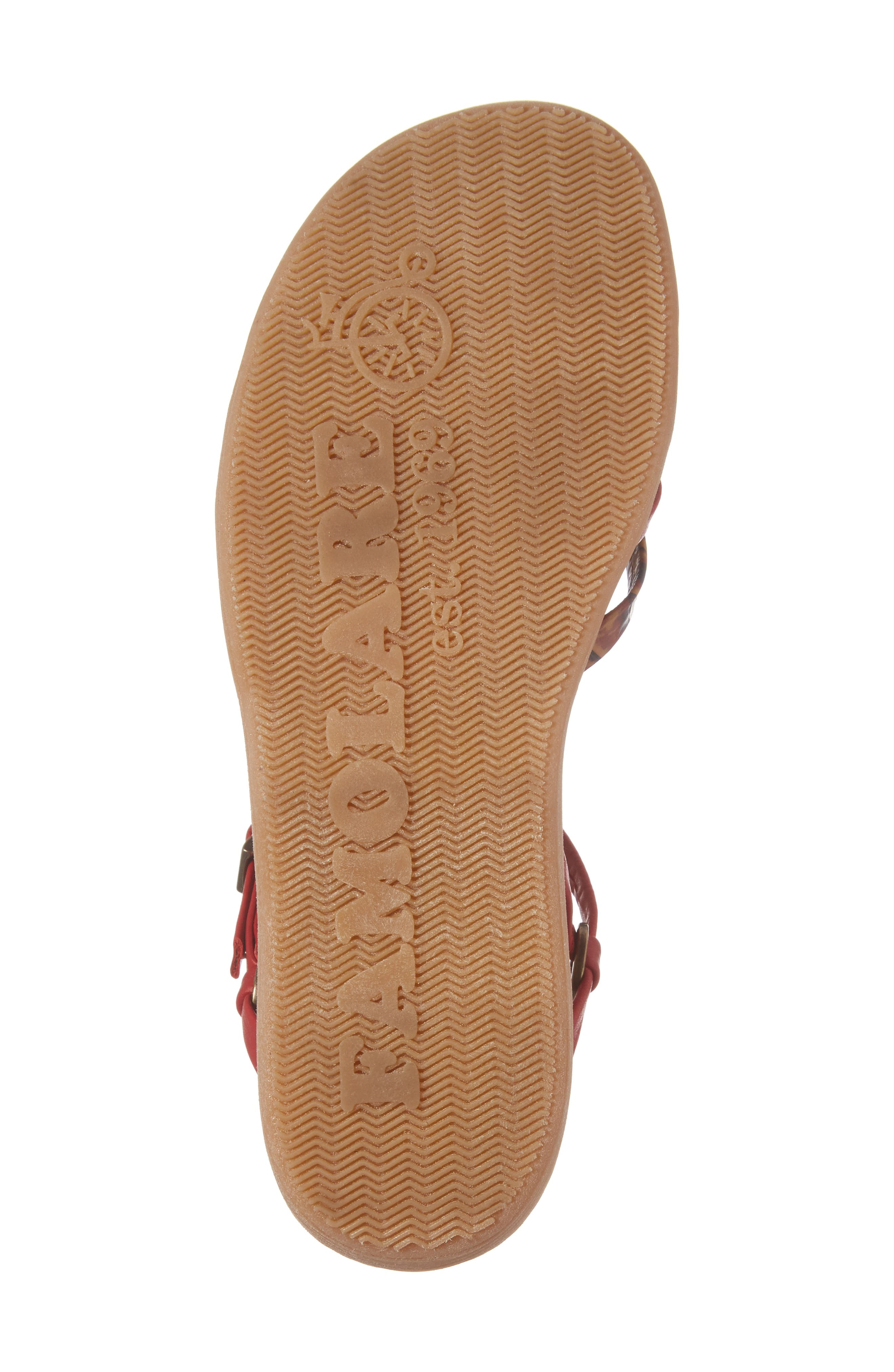 Strap Music Knotted Sandal,                             Alternate thumbnail 6, color,                             MULTI CORAL LEATHER